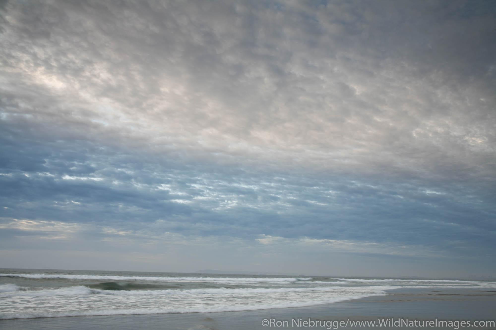 Clouds over Imperial Beach near the Municipal Pier, San Diego County, California.