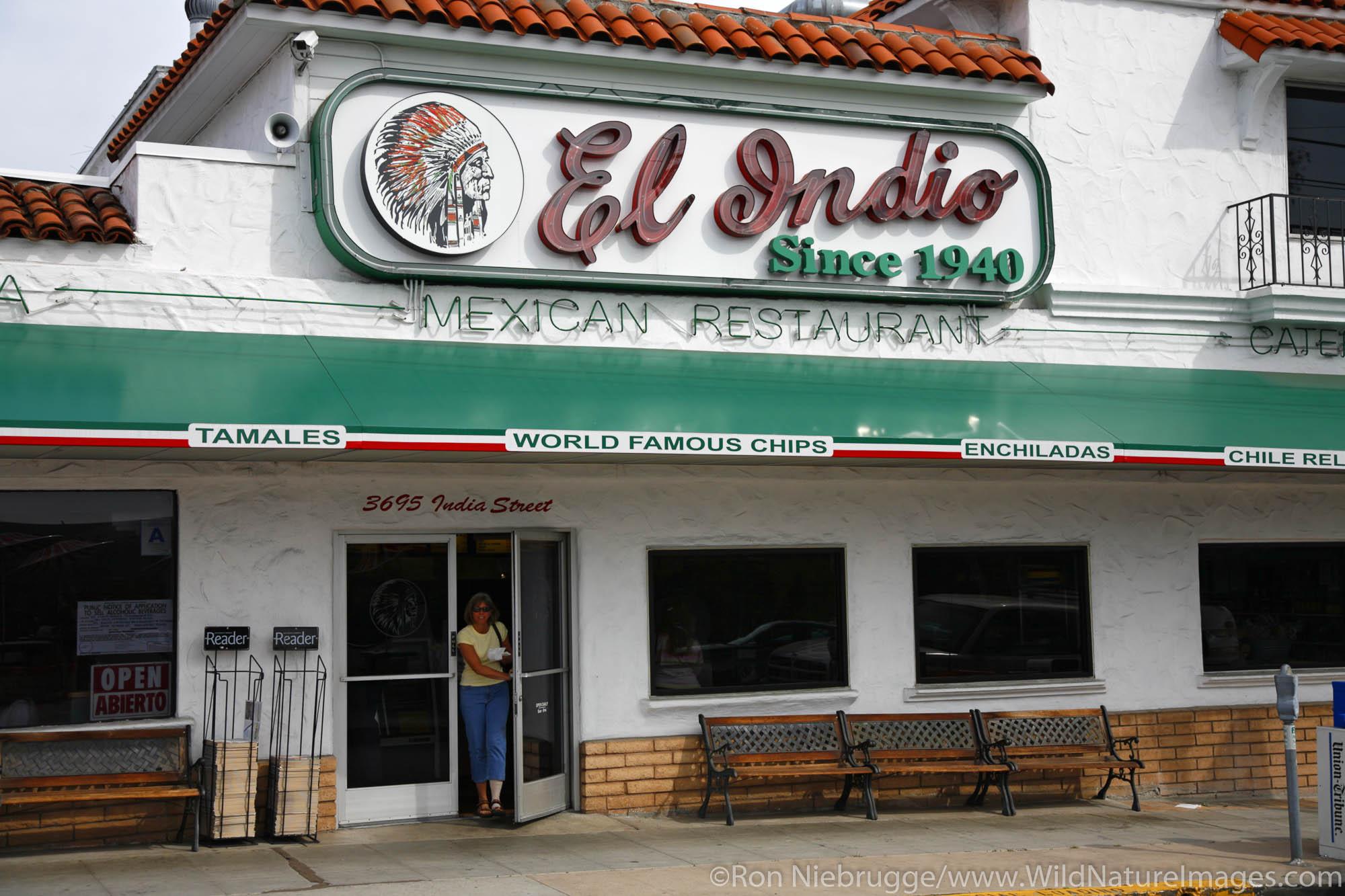 El Indio, a famous Mexican Restaurant in San Diego, California.