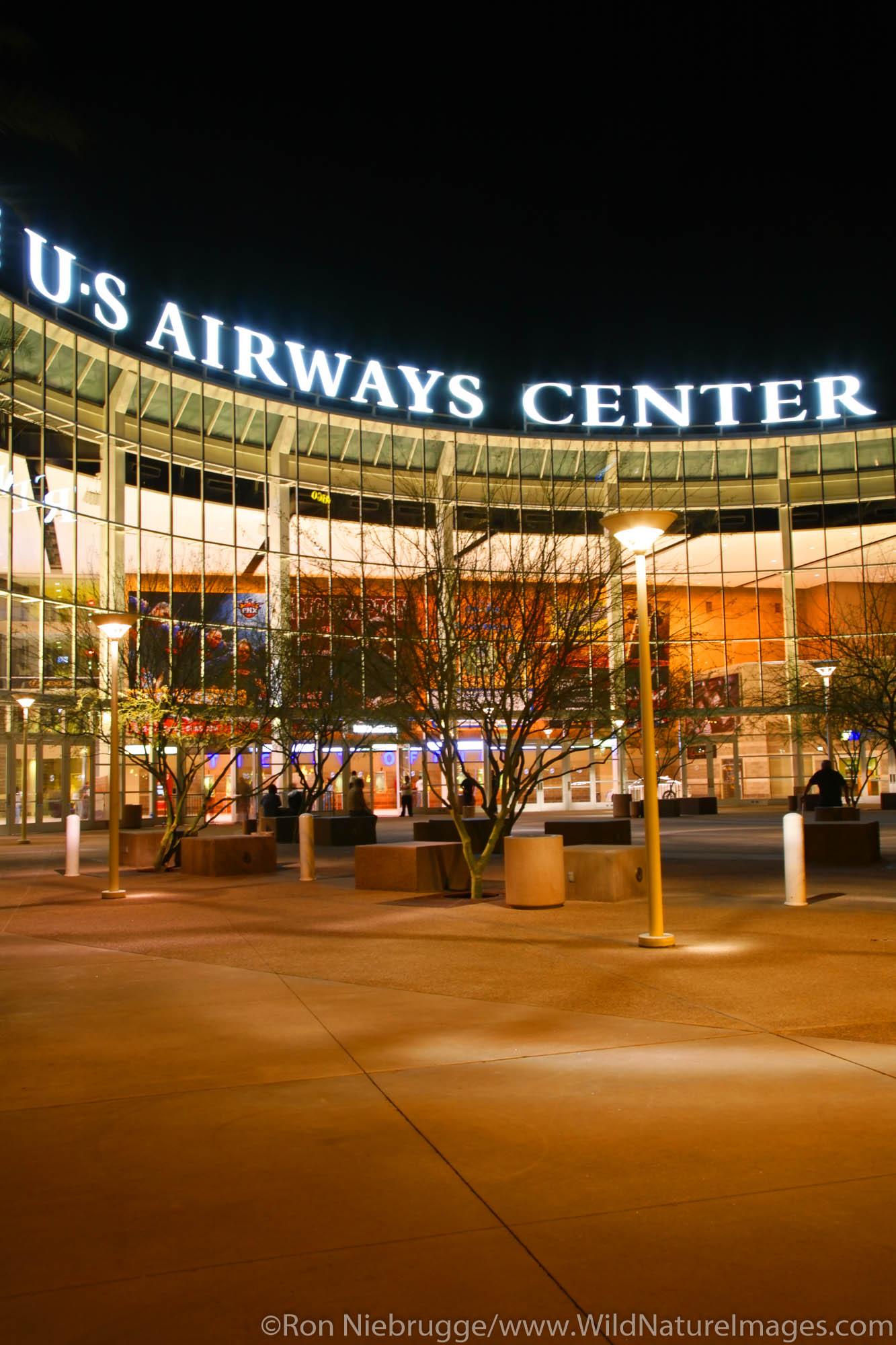 US Airways Center, downtown Phoenix, Arizona.