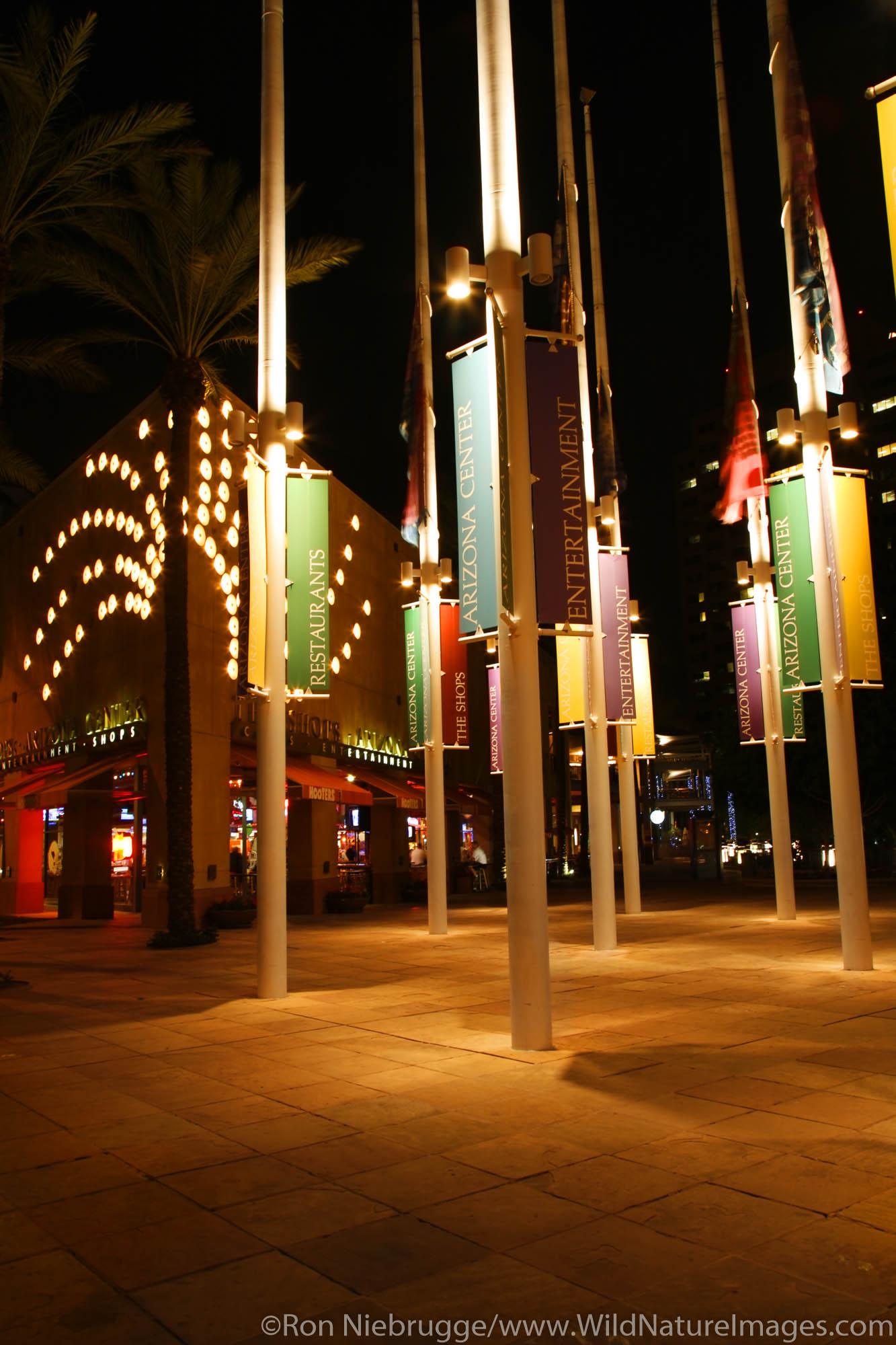 The Arizona Center, downtown Phoenix, Arizona.
