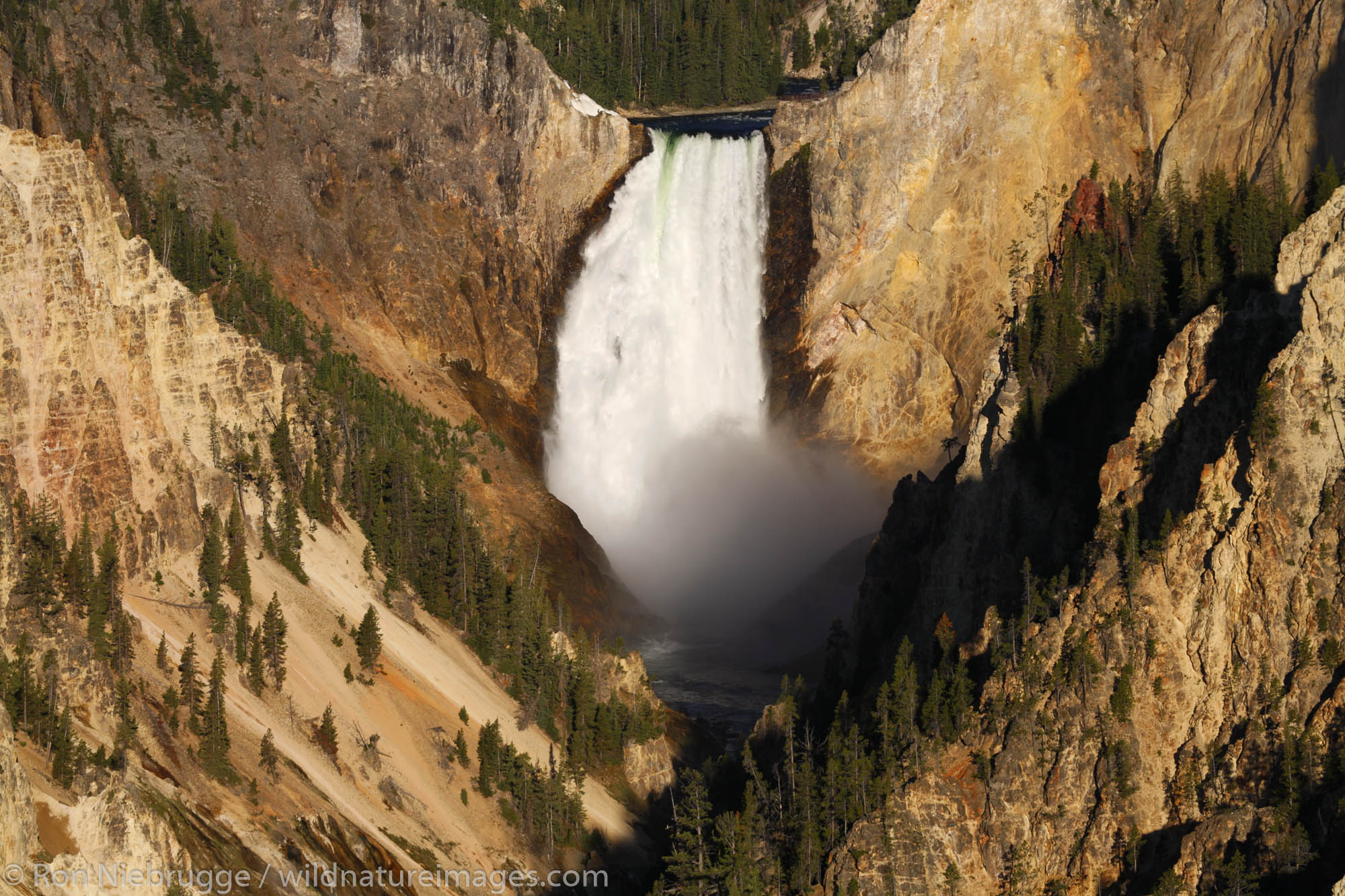 The Lower Falls of the Grand Canyon from Artist Point, Yellowstone National Park, Wyoming.
