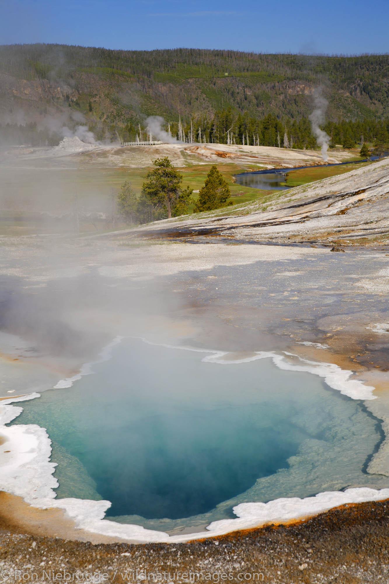 Heart Spring, Upper Geyser Basin, Yellowstone National Park, Wyoming.
