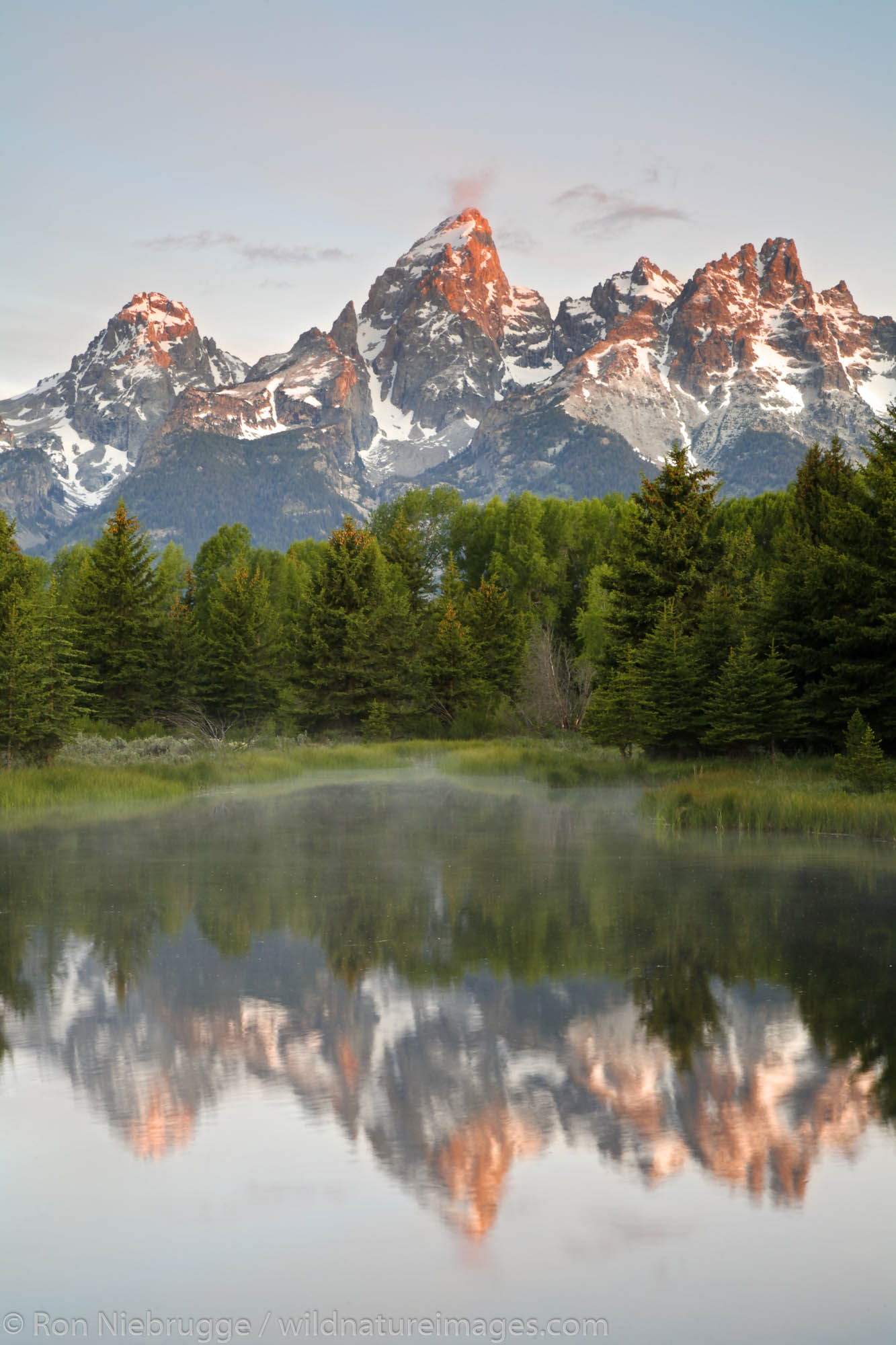 Grand Teton from Schwabacher Landing, Grand Teton National Park, Wyoming.