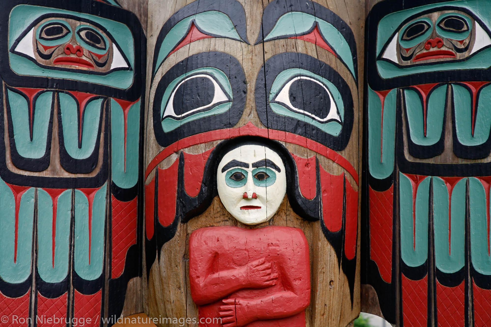 Saxman Totem Park, Ketchikan, Alaska.