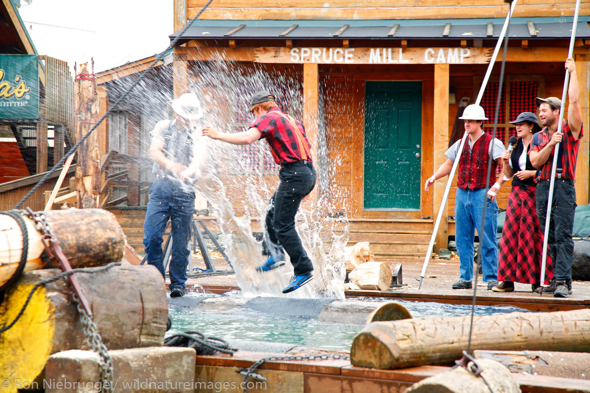 The Great Alaskan Lumberjack Show, Ketchikan, Alaska.