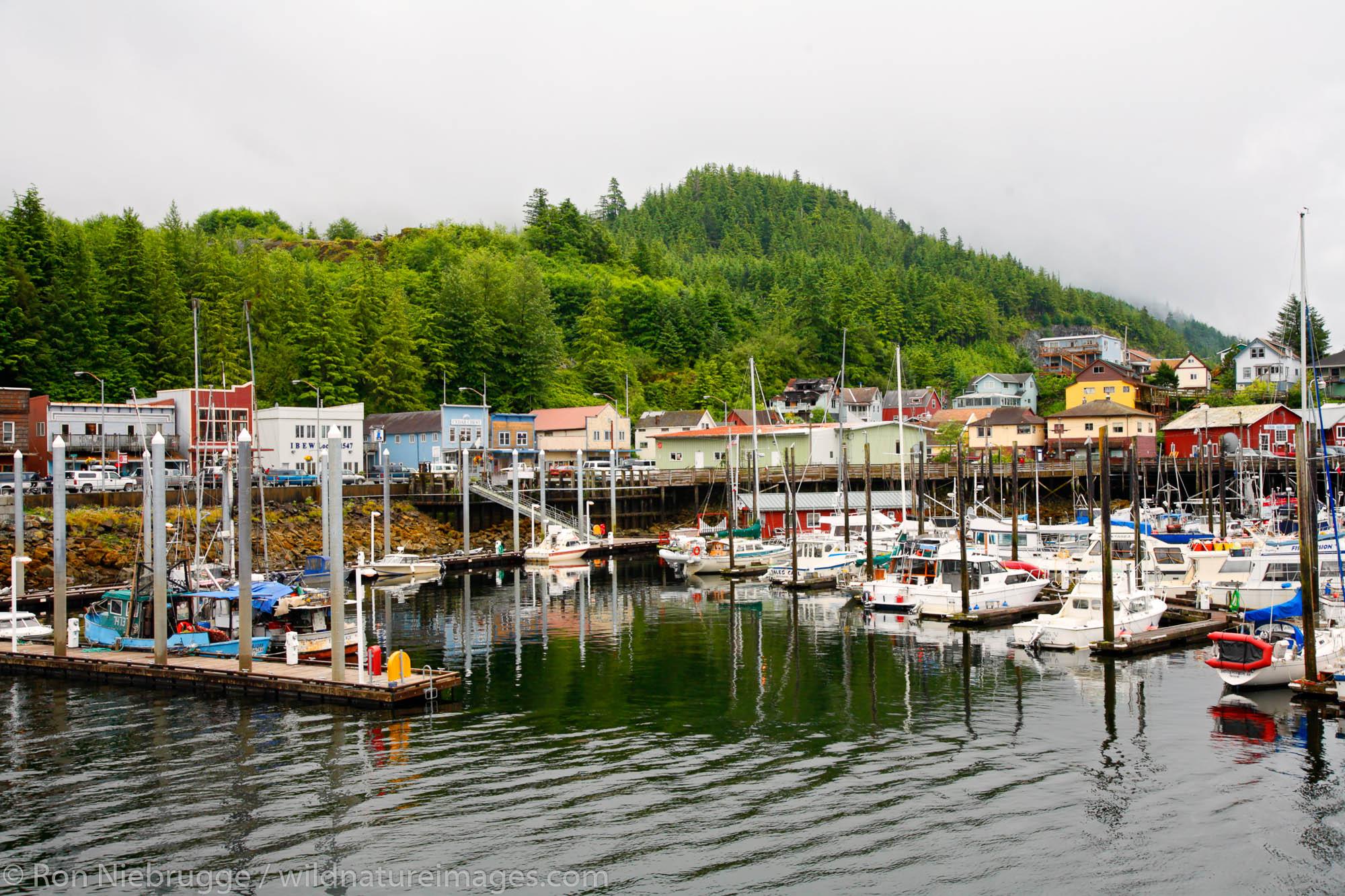 Boat harbor, Ketchikan, Alaska.