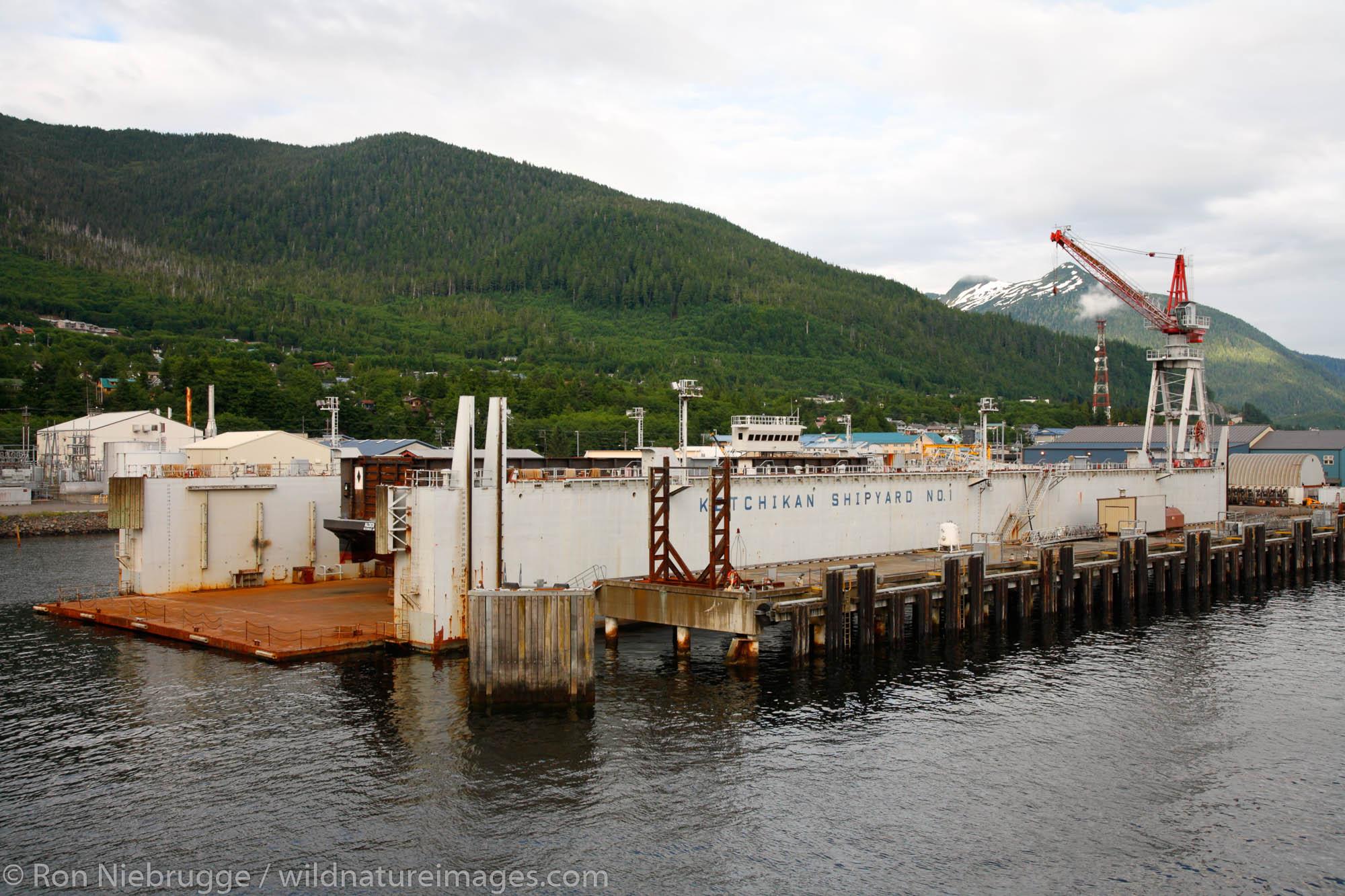 Ketchikan Dry Dock and boat repair, Ketchikan, Alaska.