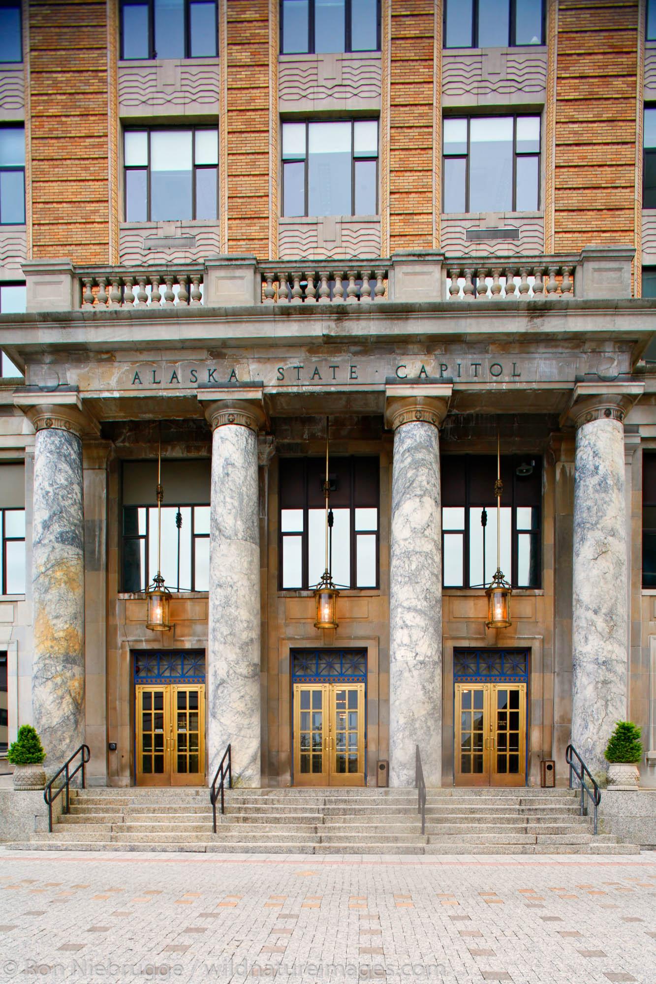 The Alaska State Capitol building, Downtown Juneau, Alaska.