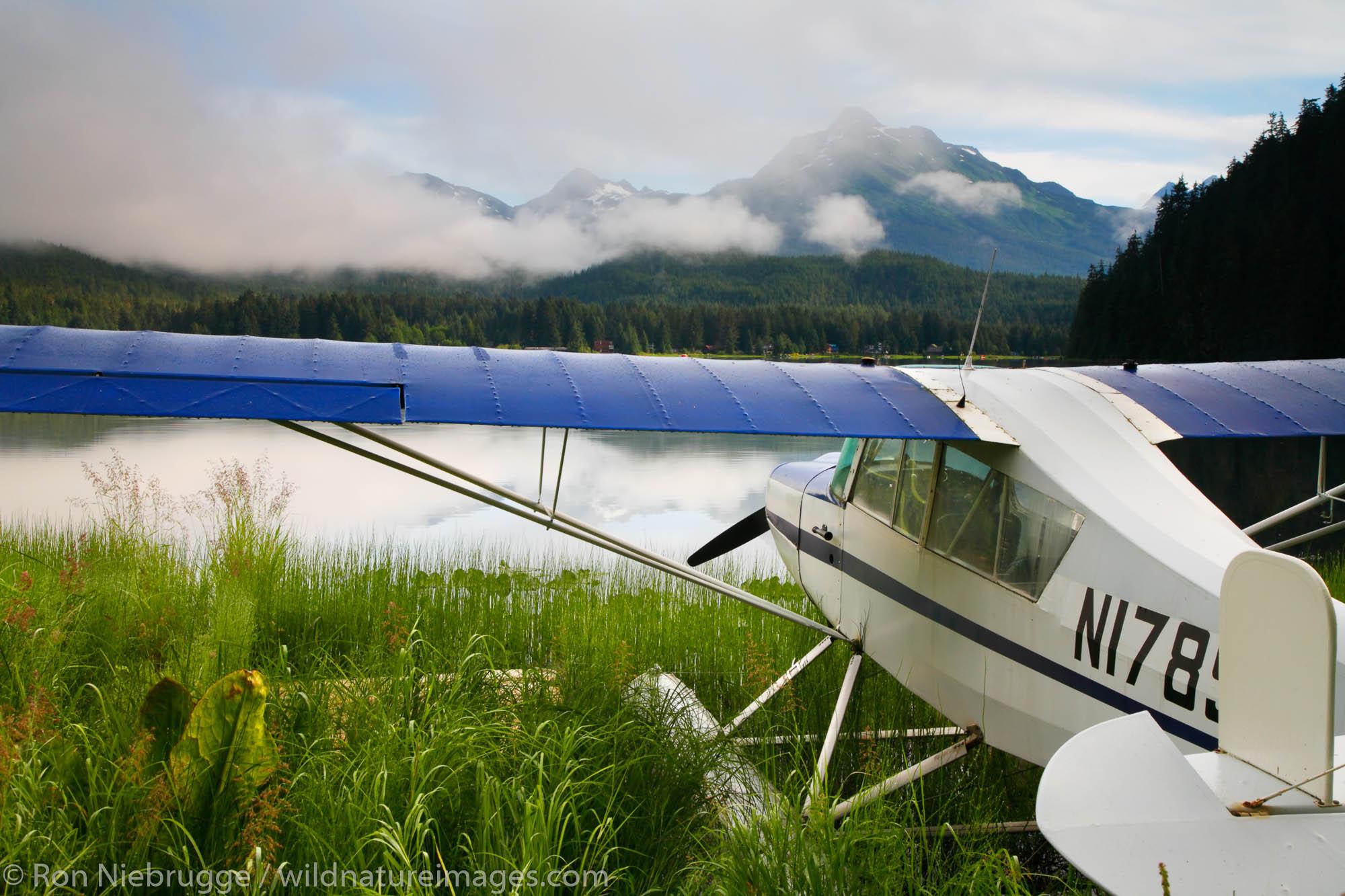 Float plane on Auke Lake, Juneau, Alaska.