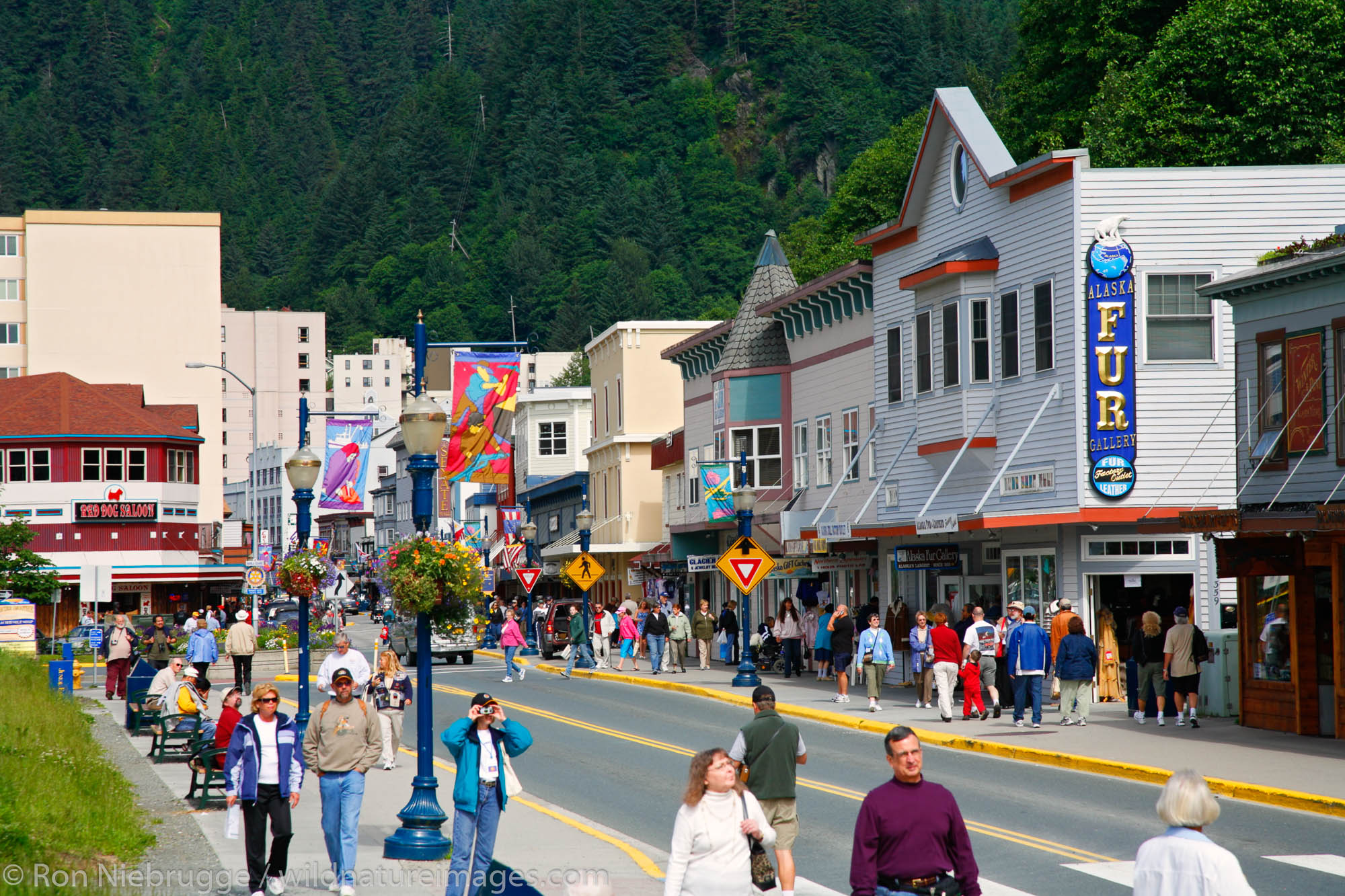 Downtown Juneau, Alaska.
