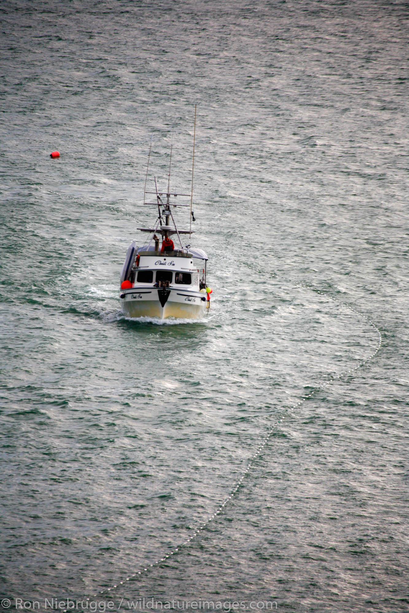 A fishing vessel in Lynn Canal, Juneau, Alaska.