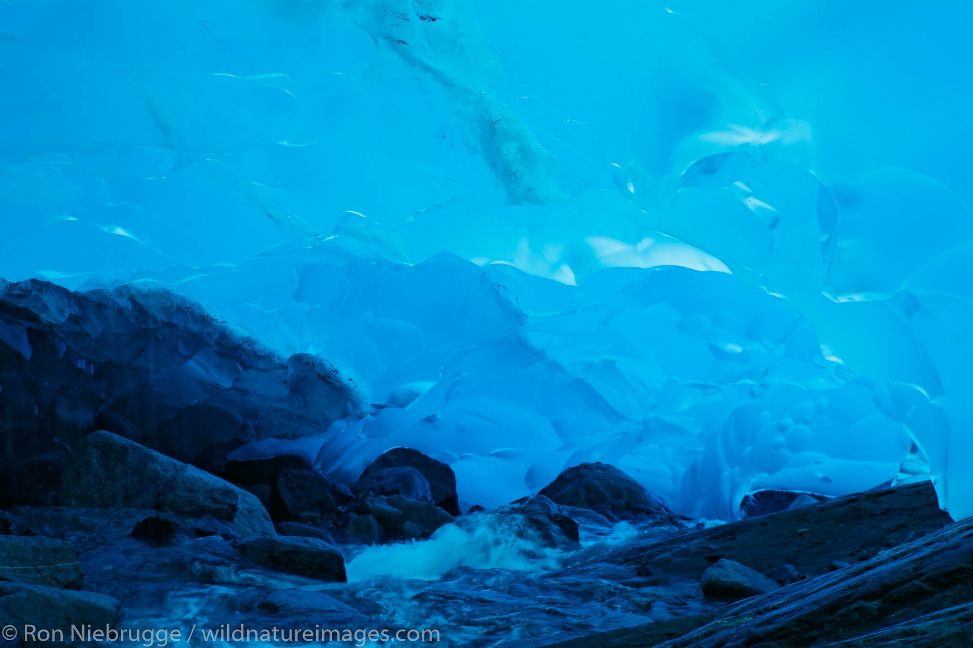 An ice cave in Mendenhall Glacier, Juneau, Alaska.