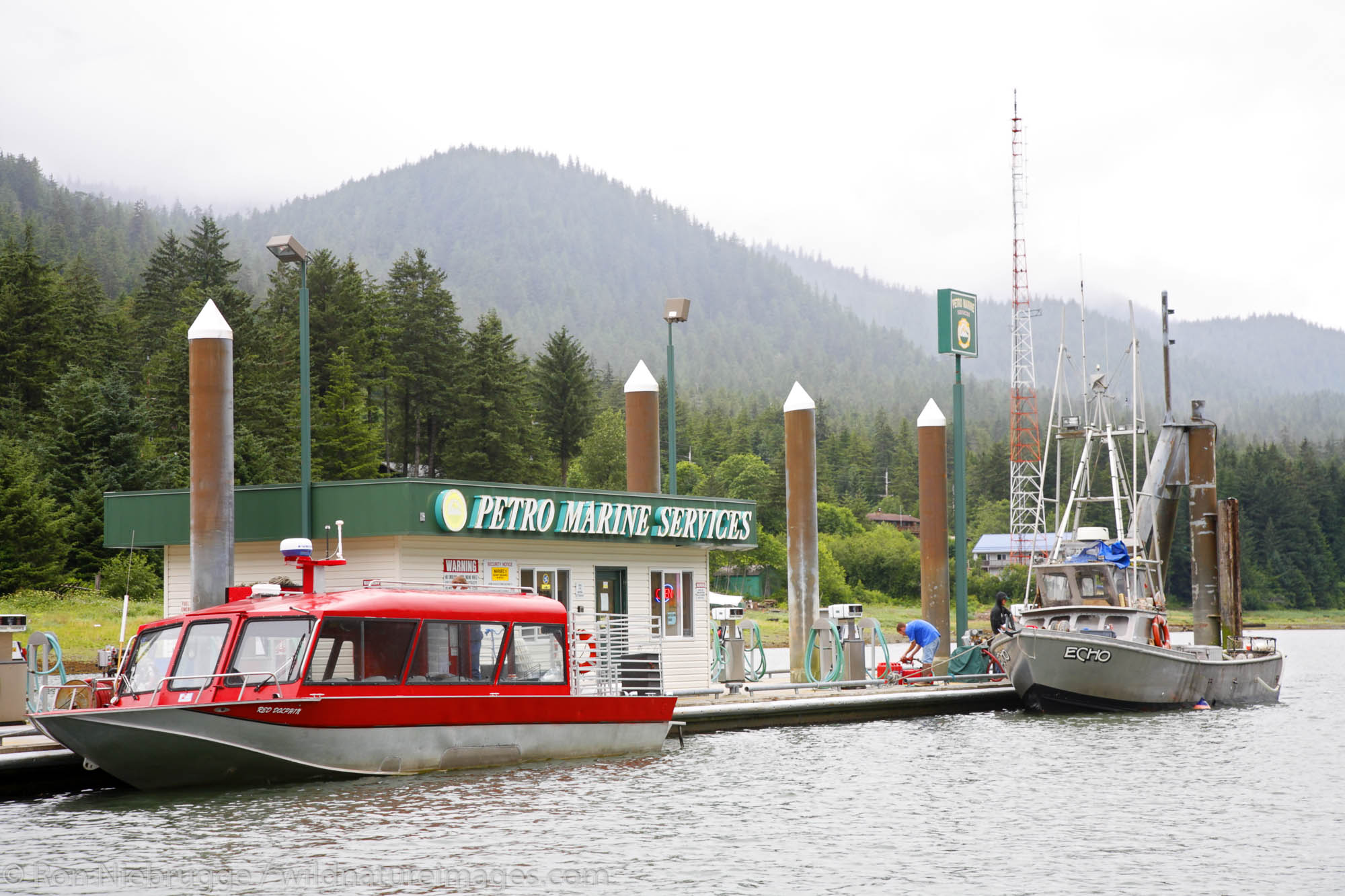 The Petro Marine Services fuel dock, Juneau, Alaska.