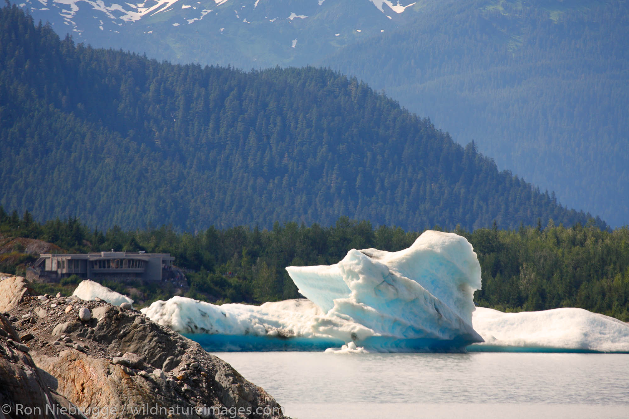Mendenhall Glacier and lake, Juneau, Alaska.