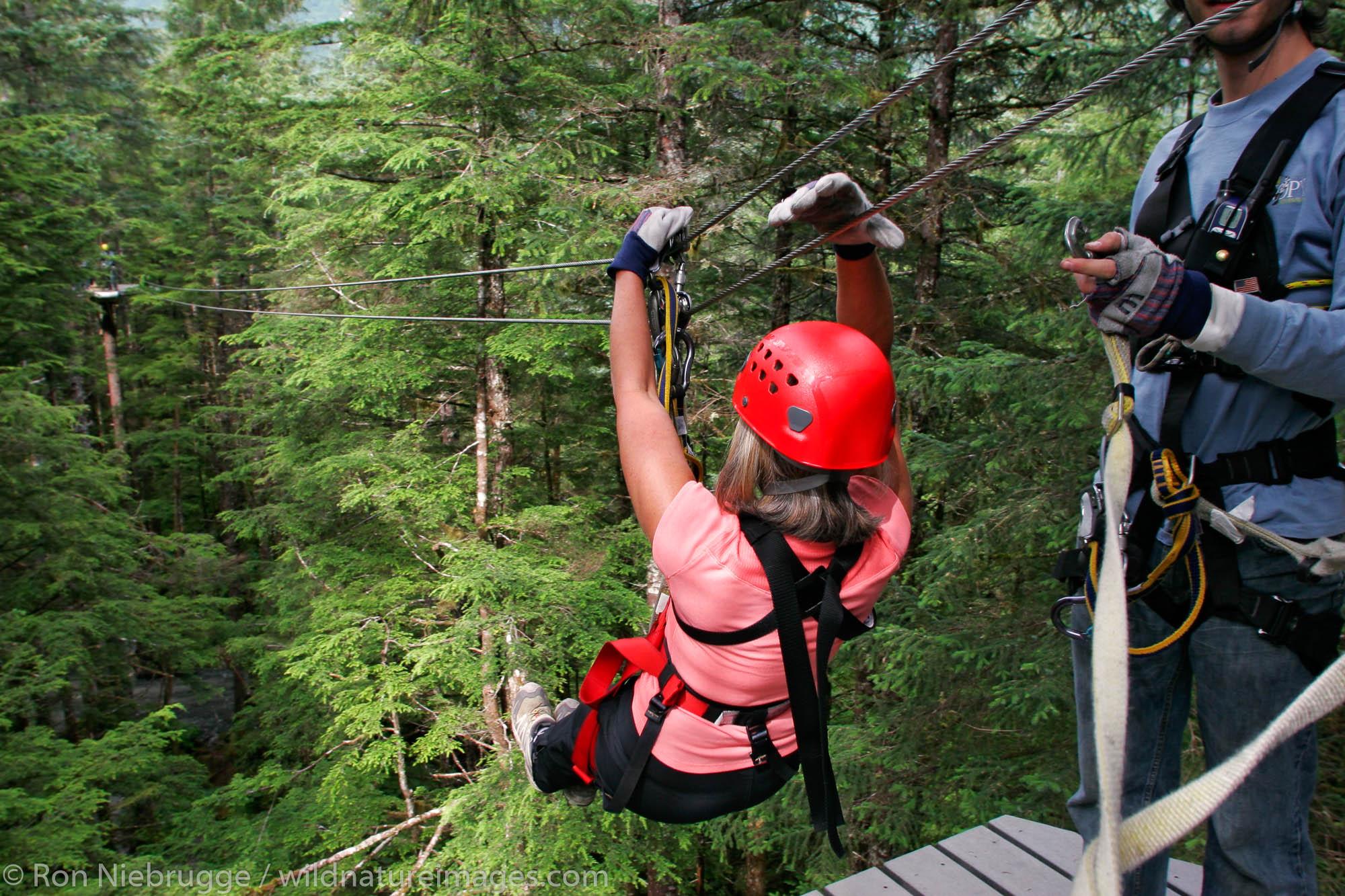 Zip line tour, Juneau, Alaska.