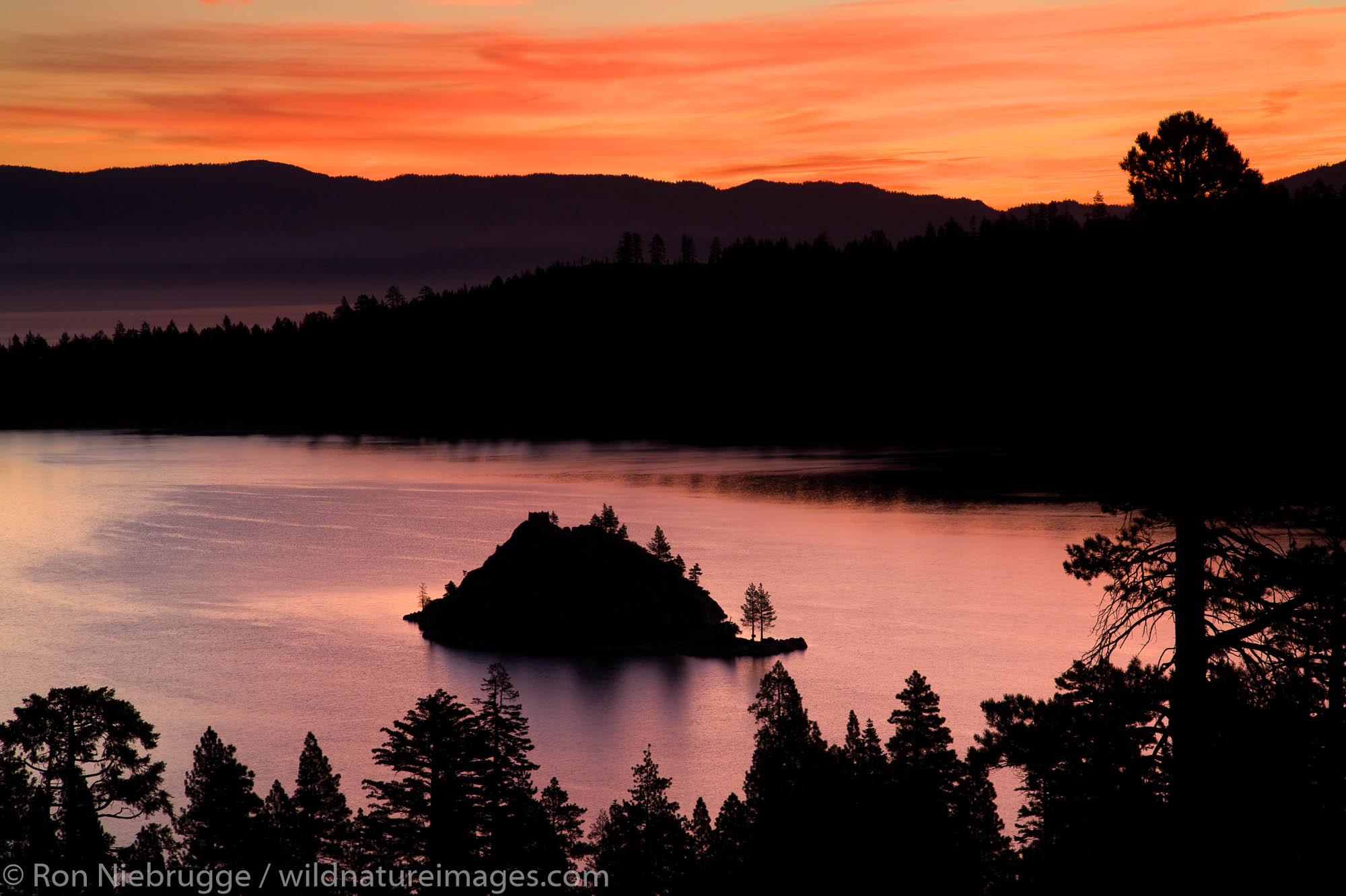 Emerald Bay at sunrise, Lake Tahoe, California.