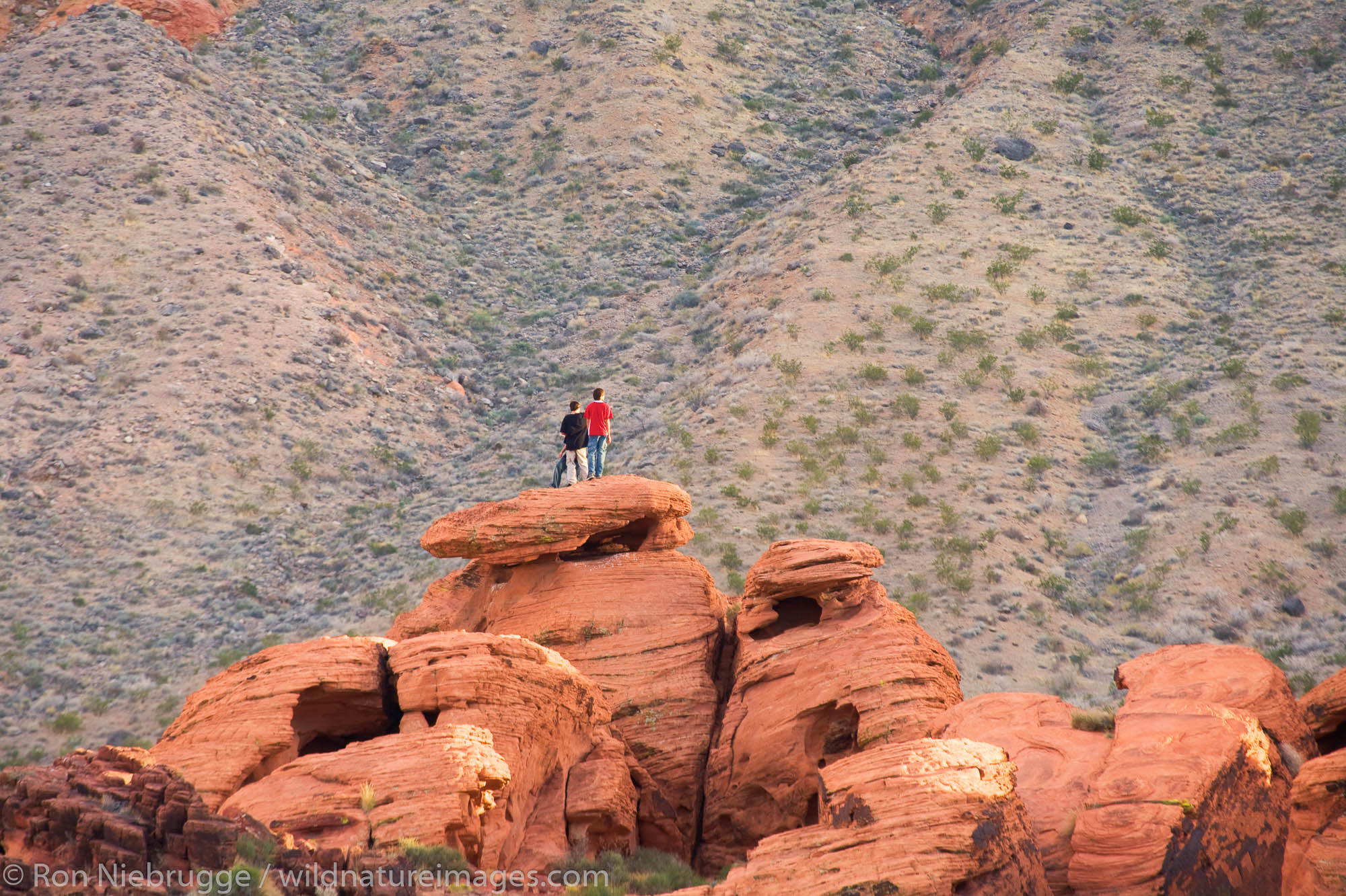 Visitors in the Valley of Fire State Park, Nevada