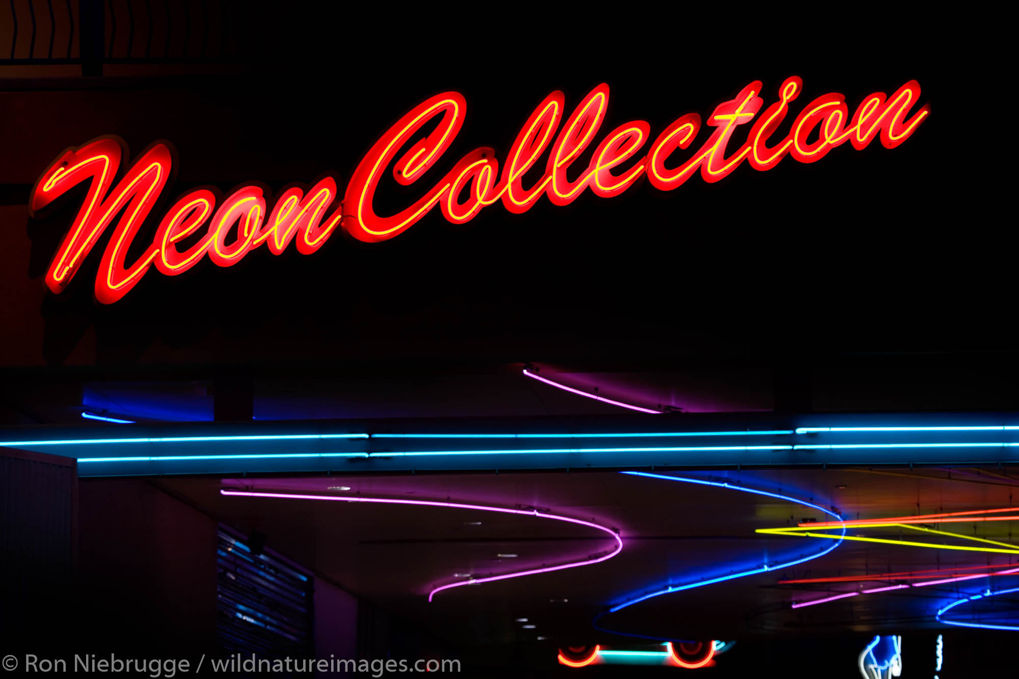 Neon Collections sign, downtown Las Vegas, Nevada.