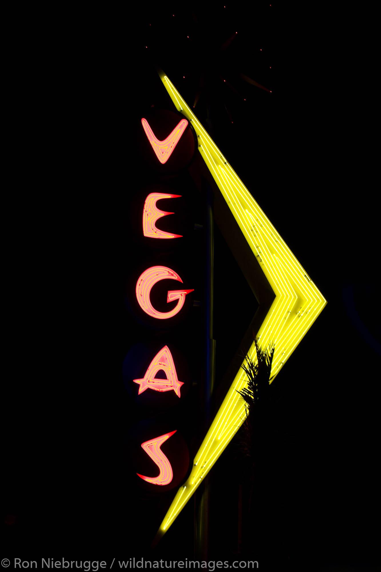 Vegas neon sign, downtown Las Vegas, Nevada.