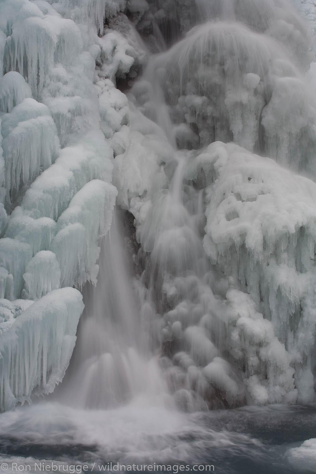 Frozen waterfall, Seward, Alaska.