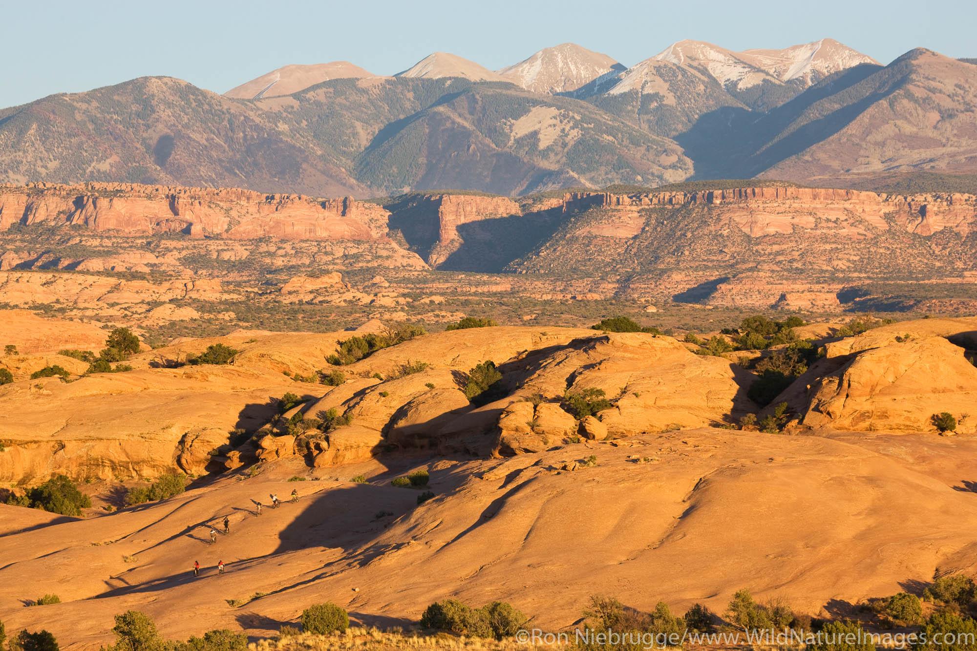 Riding the famous Slickrock Trail, Moab, Utah.