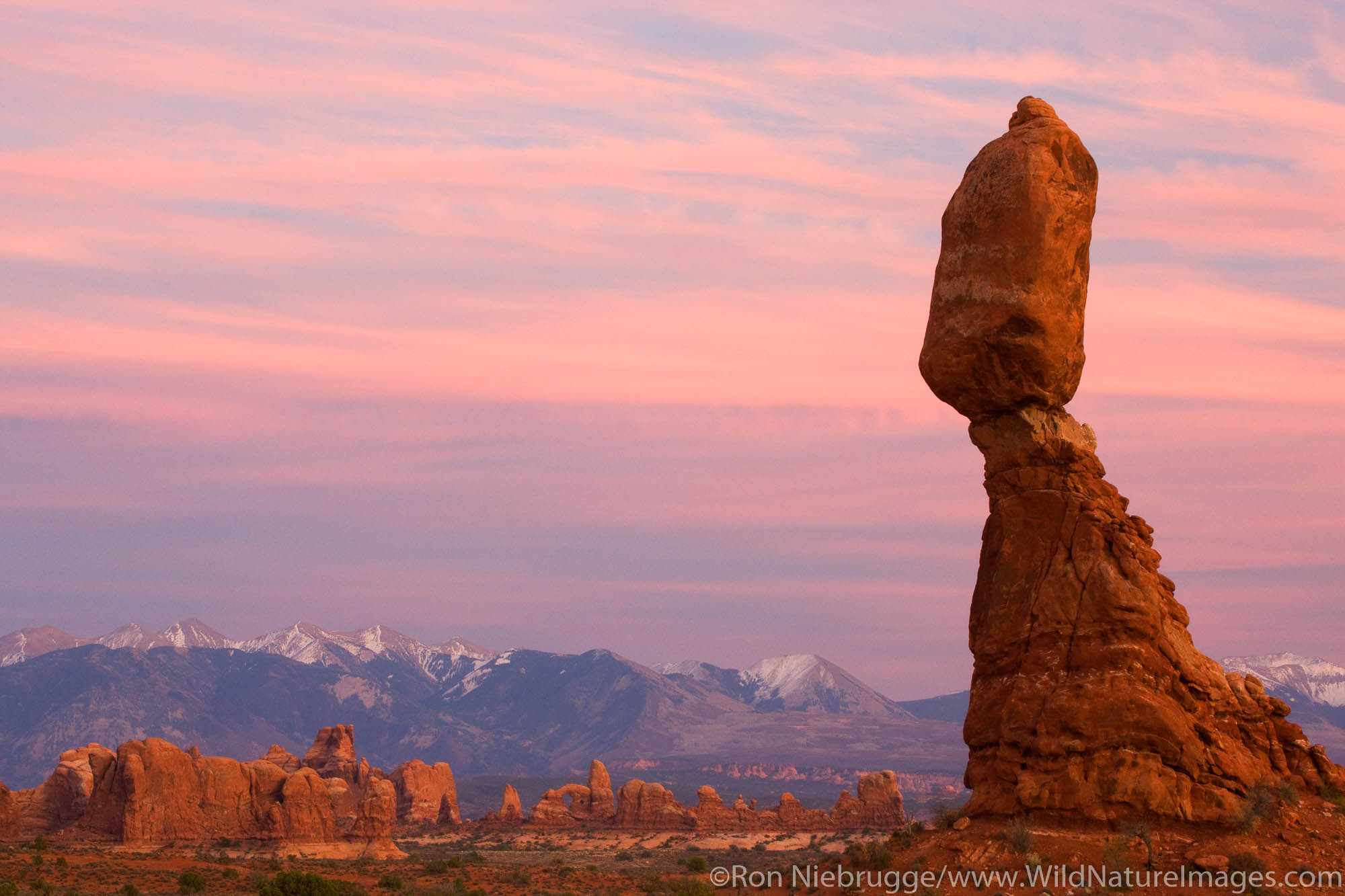 Balanced Rock, Arches National Park, near Moab, Utah.