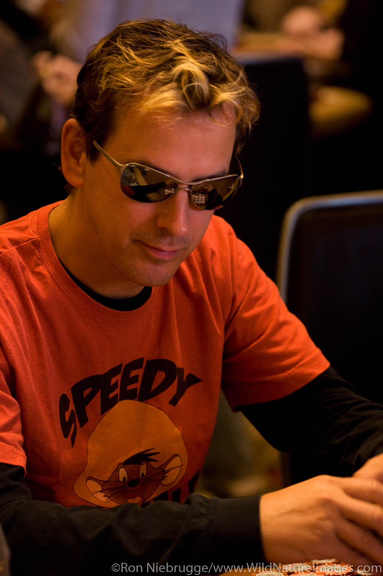 Phil Laak at the 2008 World Poker Tour Festa Al Lago poker tournament at the Bellagio Resort and Casino, Las Vegas, Nevada.