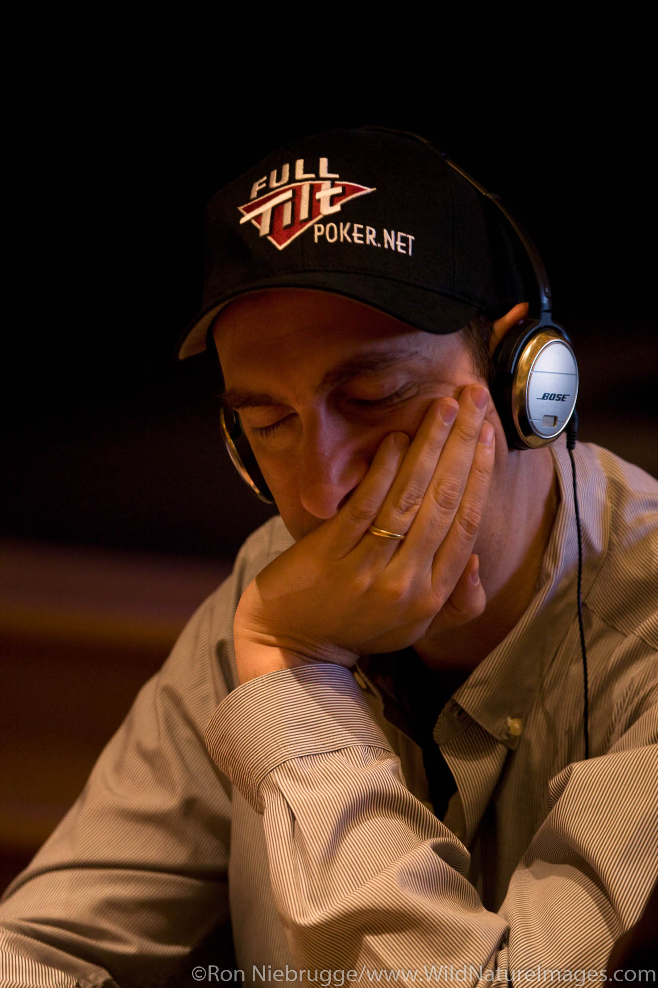 Eric Seidel, at the 2008 World Poker Tour Festa Al Lago poker tournament at the Bellagio Resort and Casino, Las Vegas, Nevada...