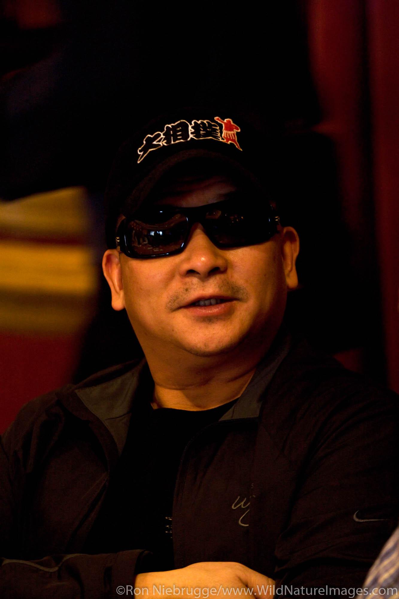 Johnny Chan at the 2008 World Poker Tour Festa Al Lago poker tournament at the Bellagio Resort and Casino, Las Vegas, Nevada.
