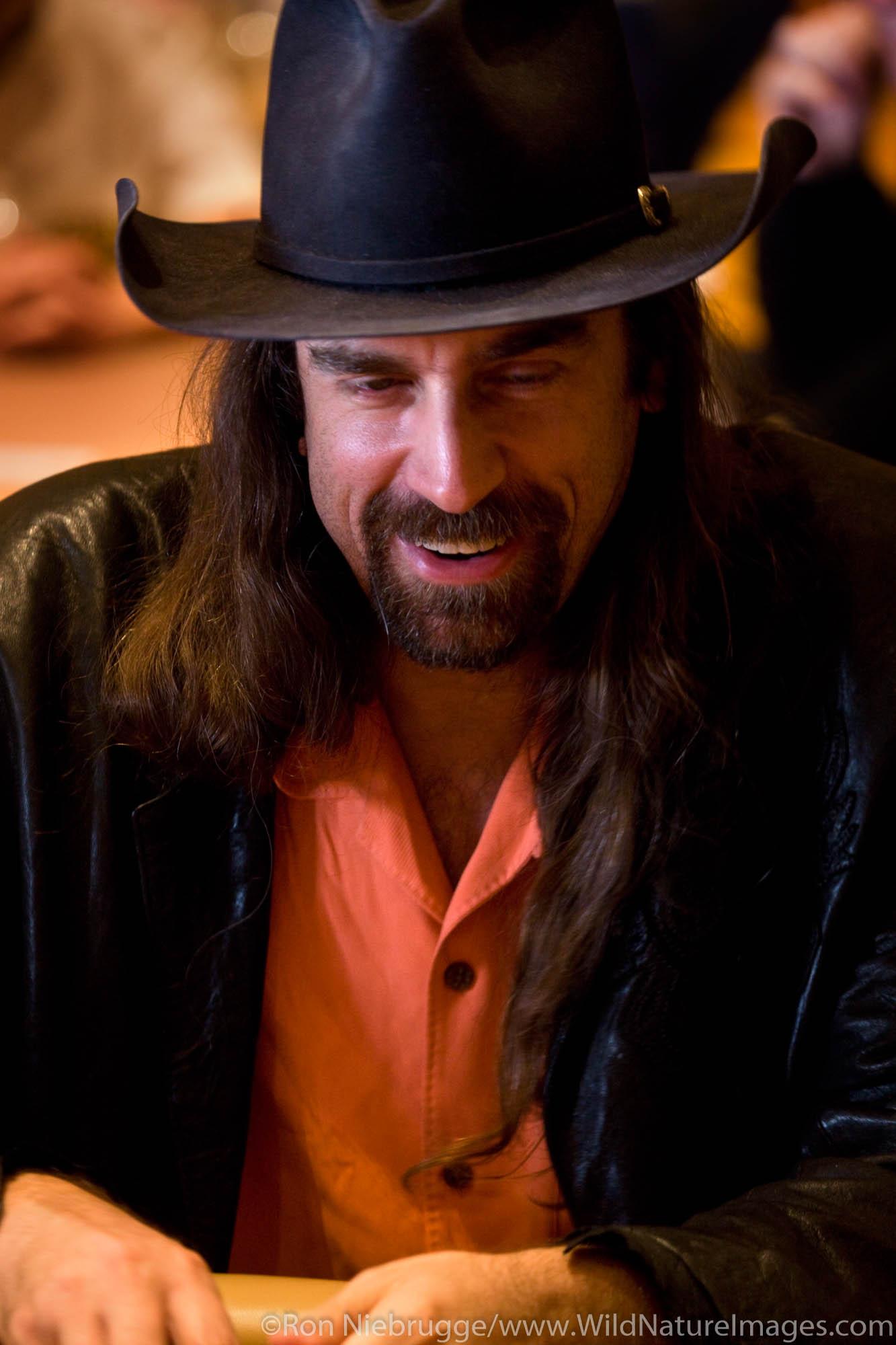 "Chris ""Jesus"" Ferguson at the 2008 World Poker Tour Festa Al Lago poker tournament at the Bellagio Resort and Casino, Las Vegas..."