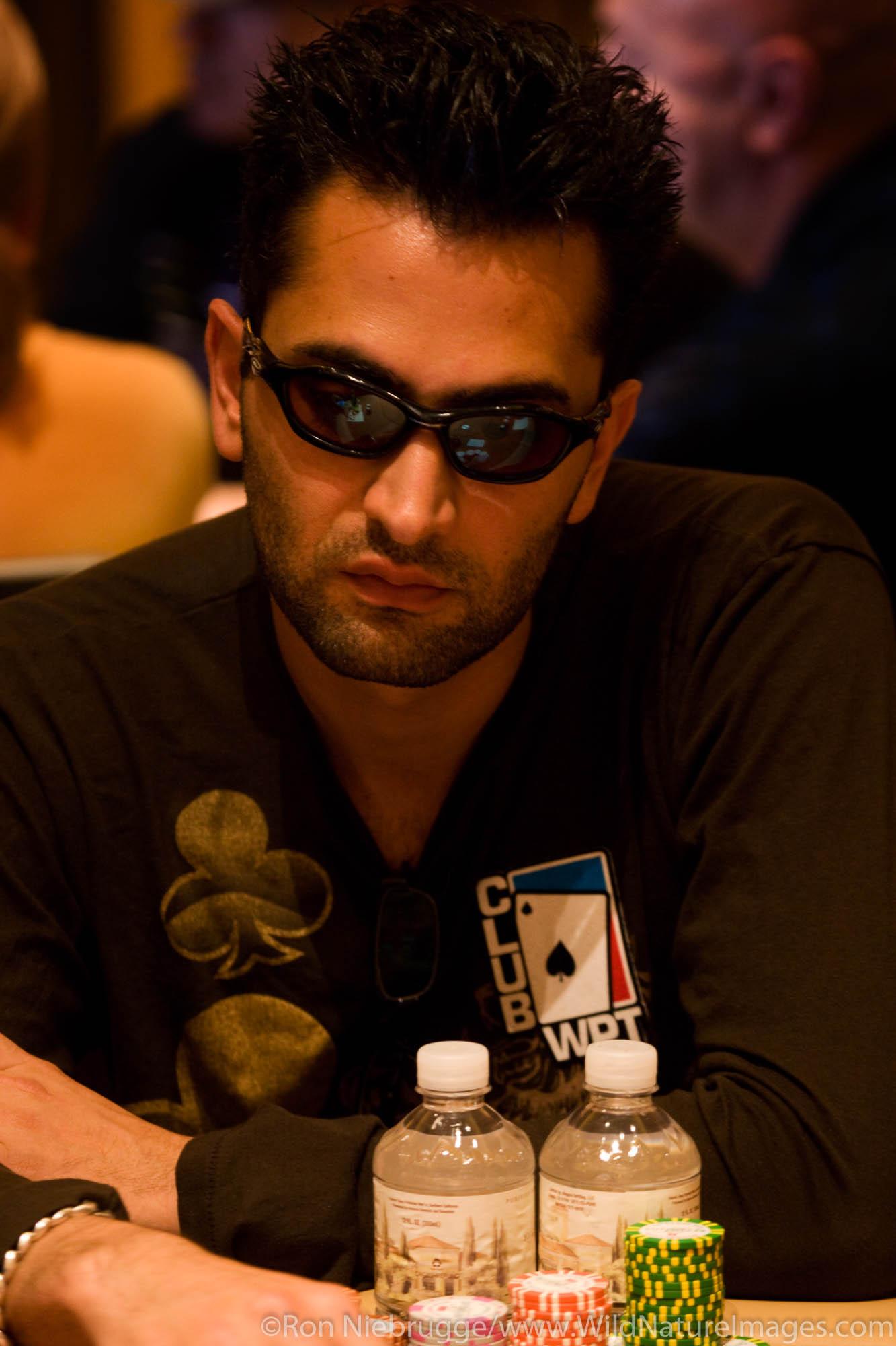 """Antonio Esfandiari """"The Magician"""" at the 2008 World Poker Tour Festa Al Lago poker tournament at the Bellagio Resort and Casino..."""