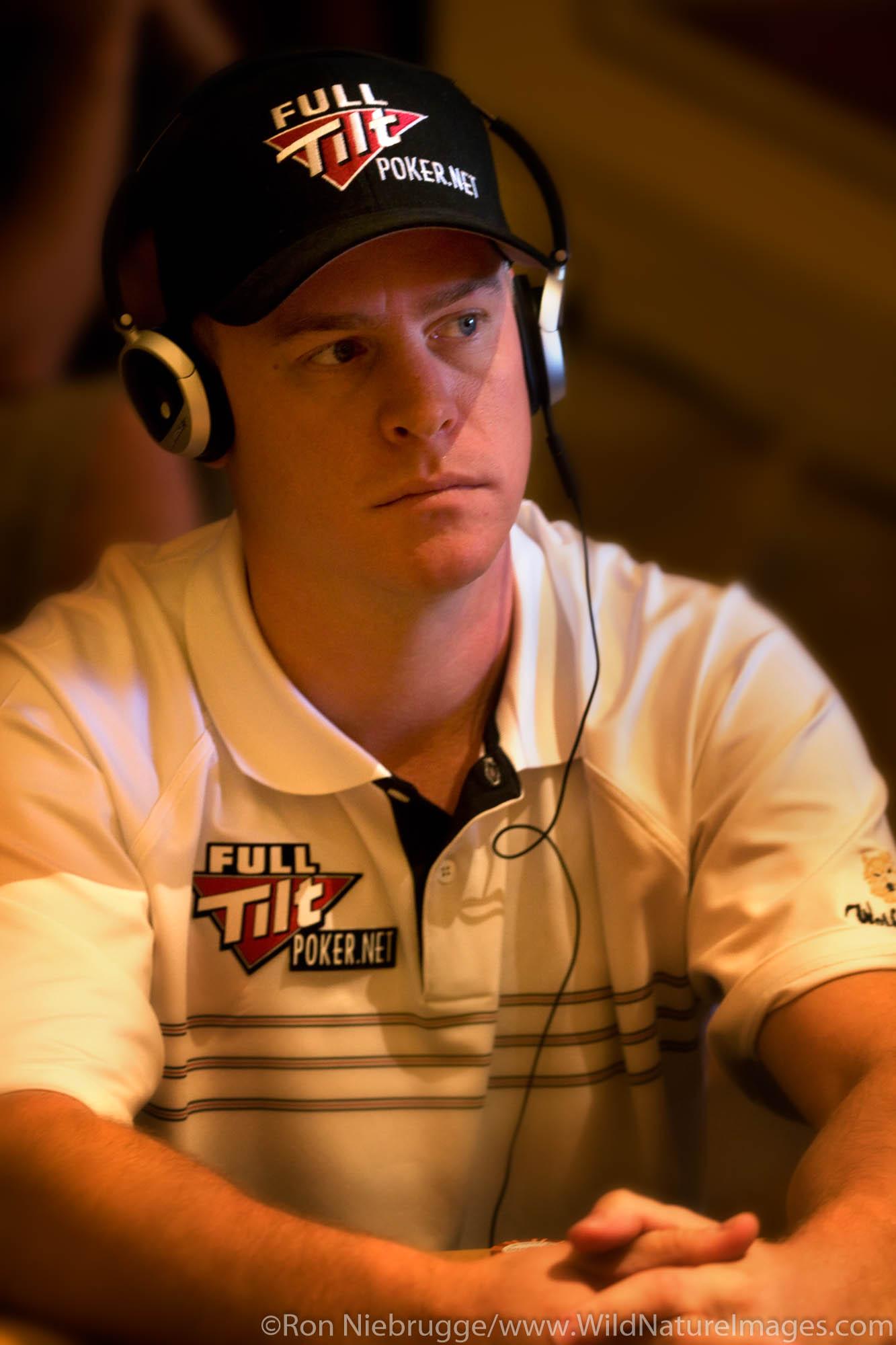 "Erick ""E-Dog"" Lindgren at the 2008 World Poker Tour Festa Al Lago poker tournament at the Bellagio Resort and Casino, Las Vegas..."