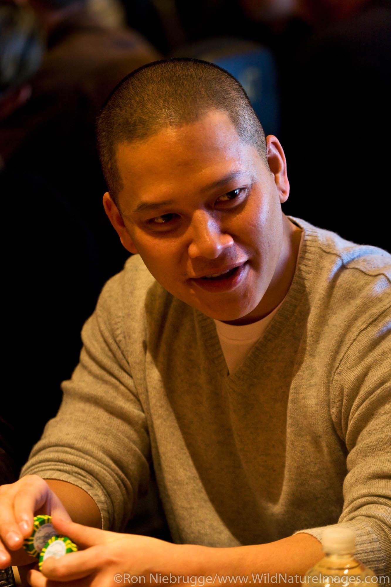 Tuan Le at the 2008 World Poker Tour Festa Al Lago poker tournament at the Bellagio Resort and Casino, Las Vegas, Nevada.