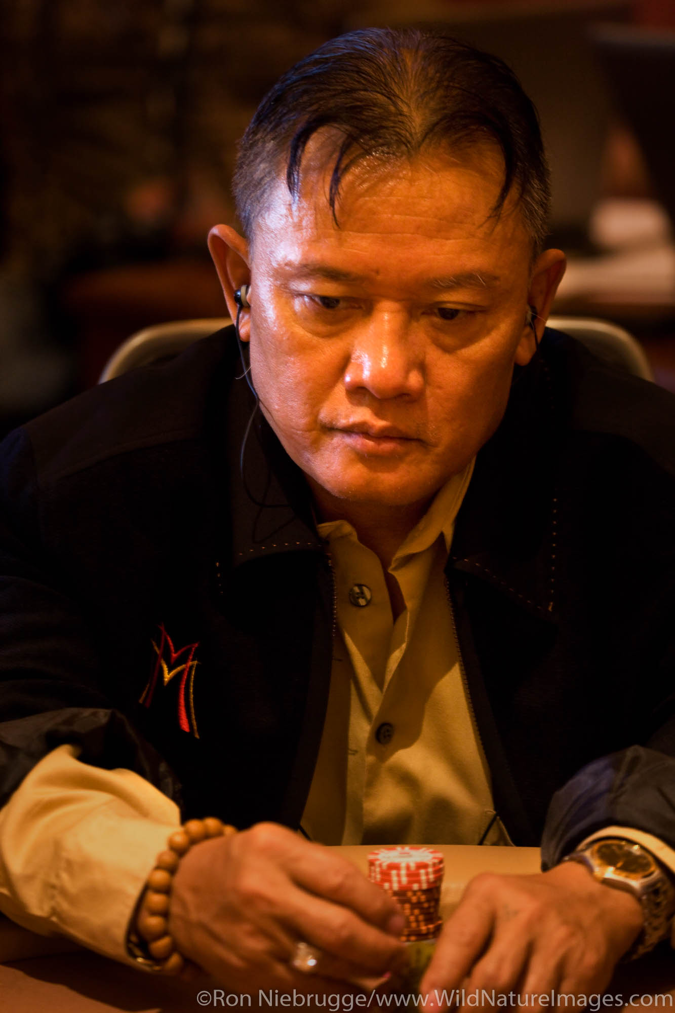 "Men ""The Master"" Nguyen at the 2008 World Poker Tour Festa Al Lago poker tournament at the Bellagio Resort and Casino, Las Vegas..."