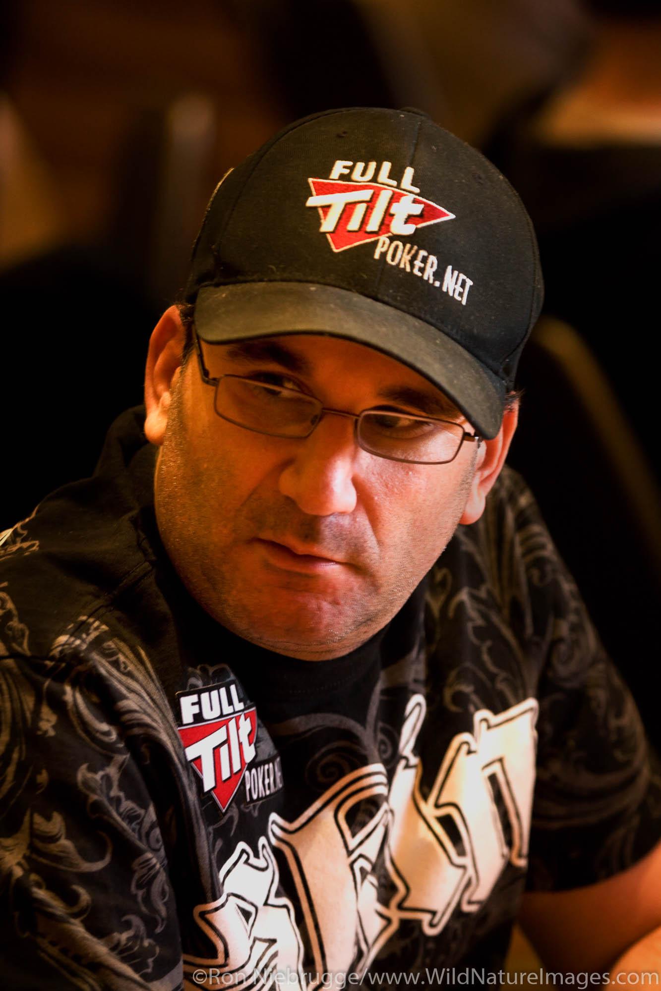 "Mike Matusow ""The mouth"" at the 2008 World Poker Tour Festa Al Lago poker tournament at the Bellagio Resort and Casino, Las Vegas..."