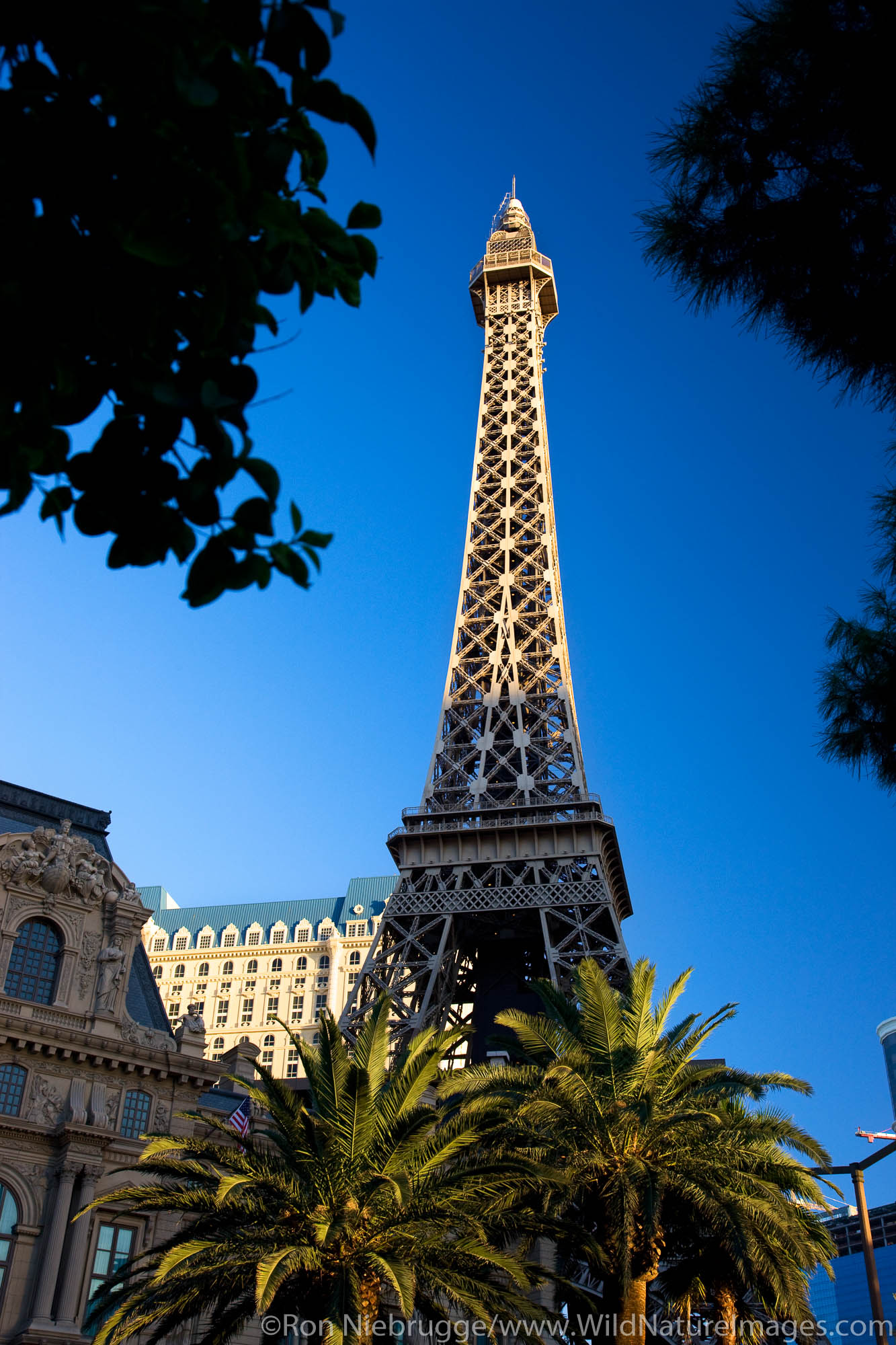 The Eiffel Tower replica at the Paris Hotel and Casino Las Vegas, Nevada.