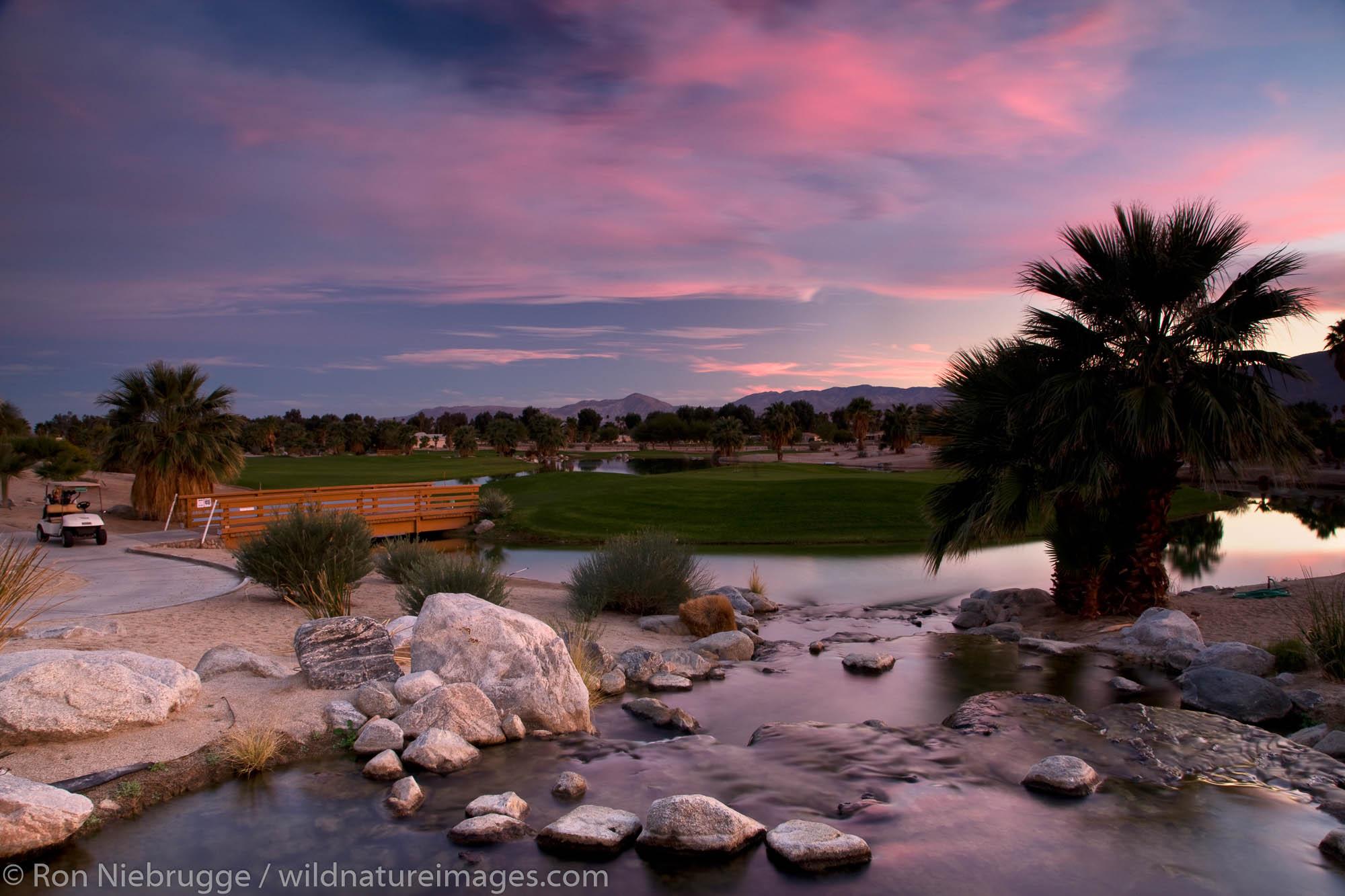 The golf course at the Springs at Borrego, Borrego Springs,  California.