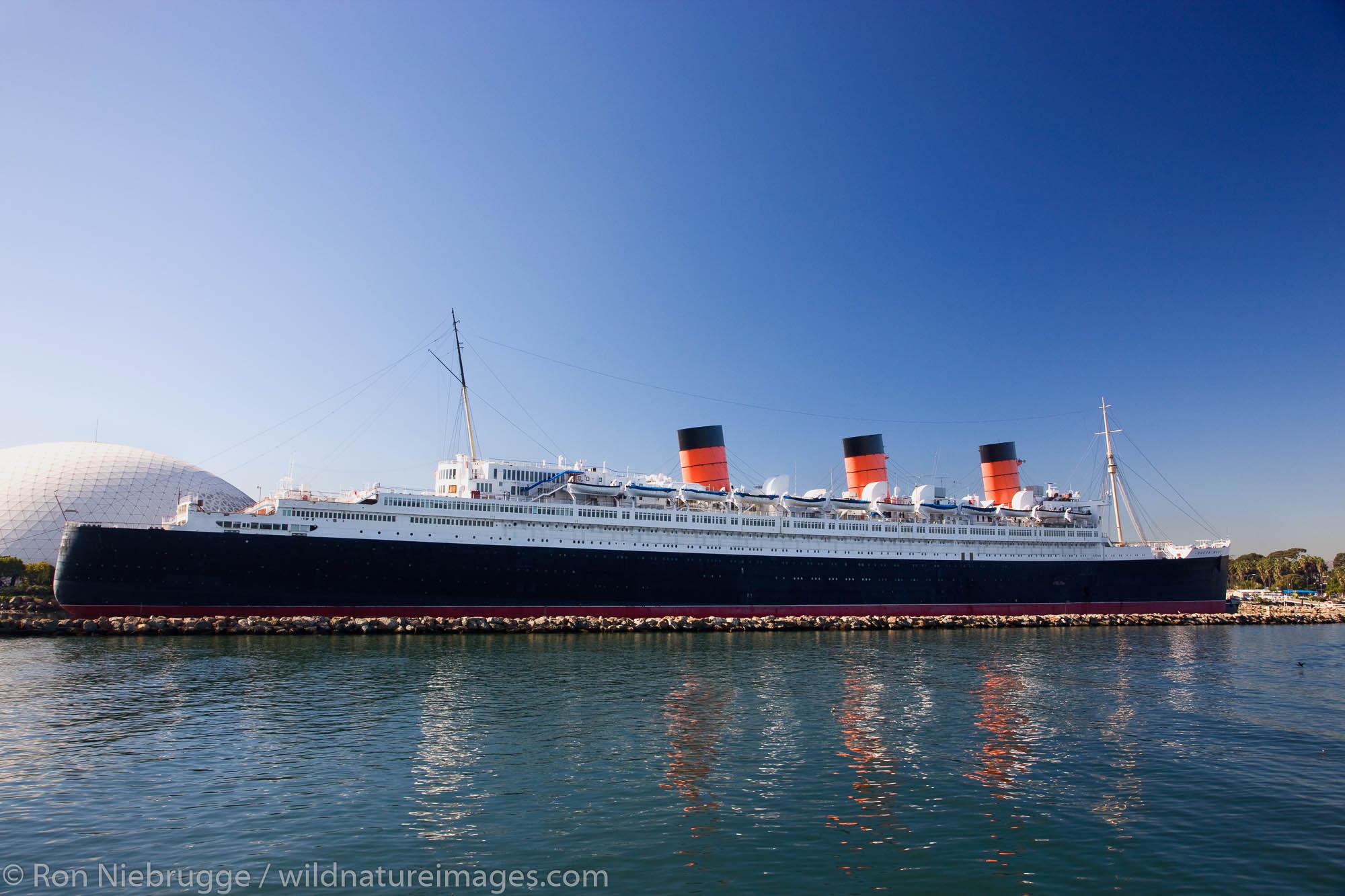 Historic Queen Mary, Long Beach, California.