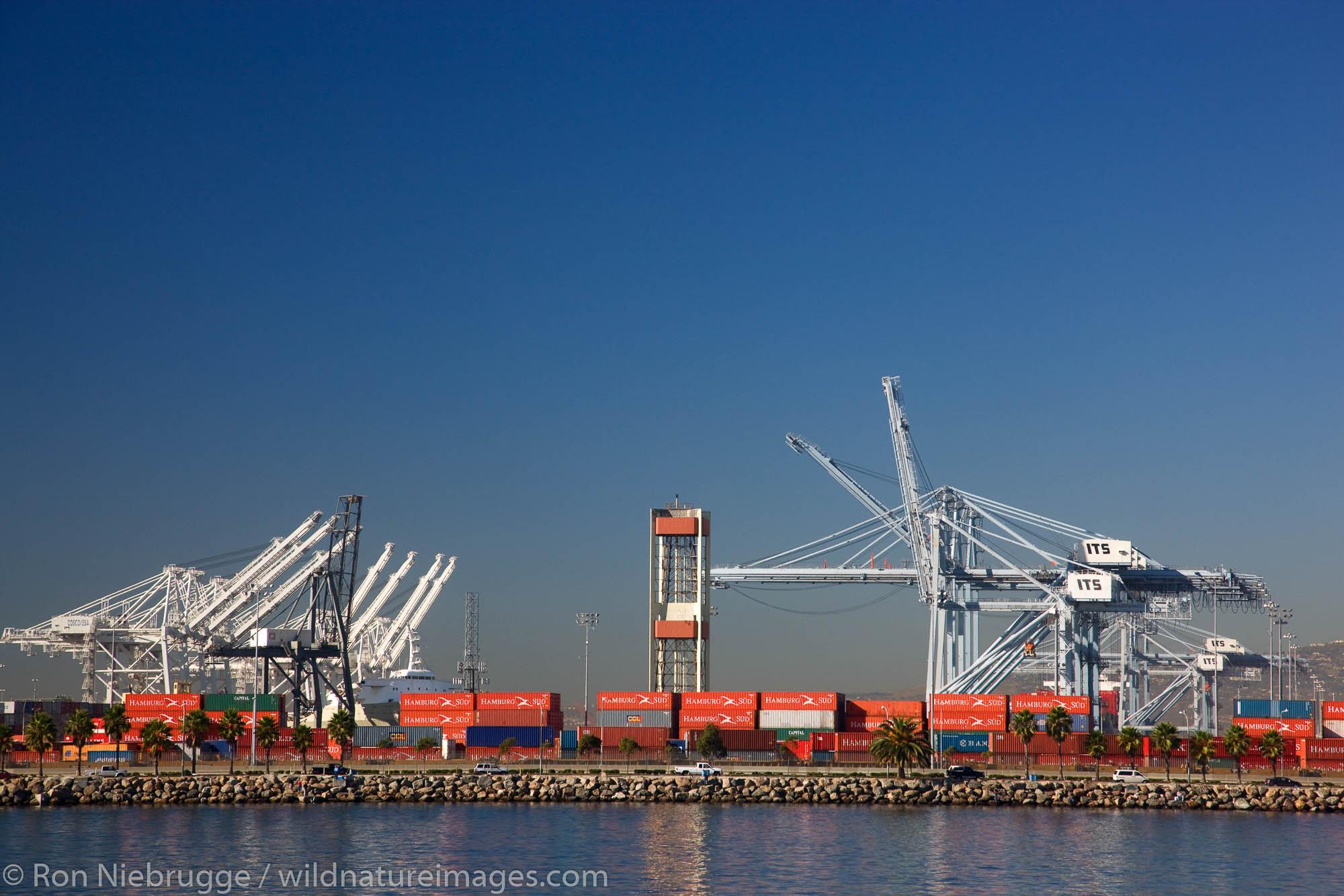 Port of Long Beach, California.