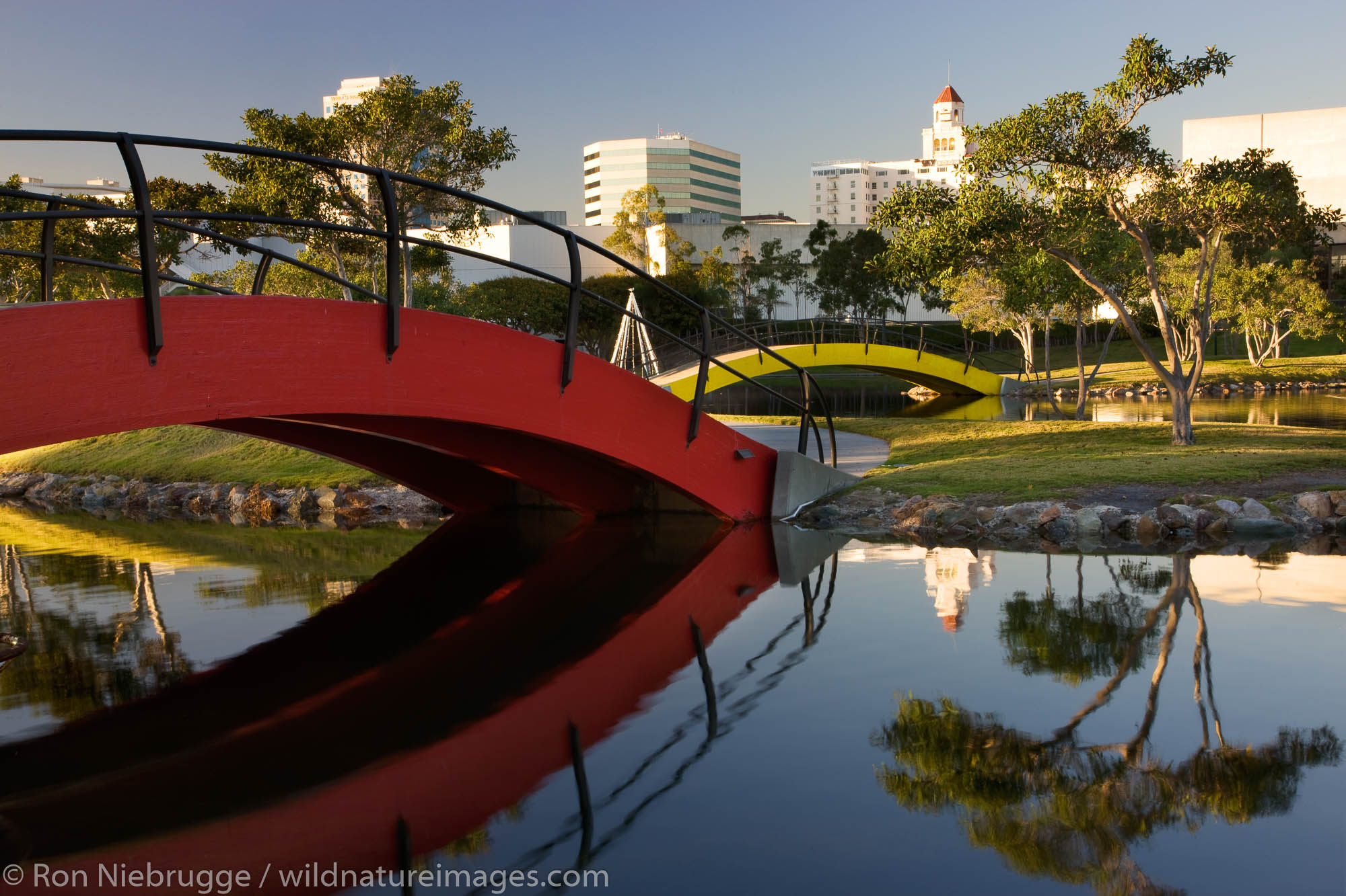 Rainbow Lagoon Park, Waterfront Center, Long Beach, California.