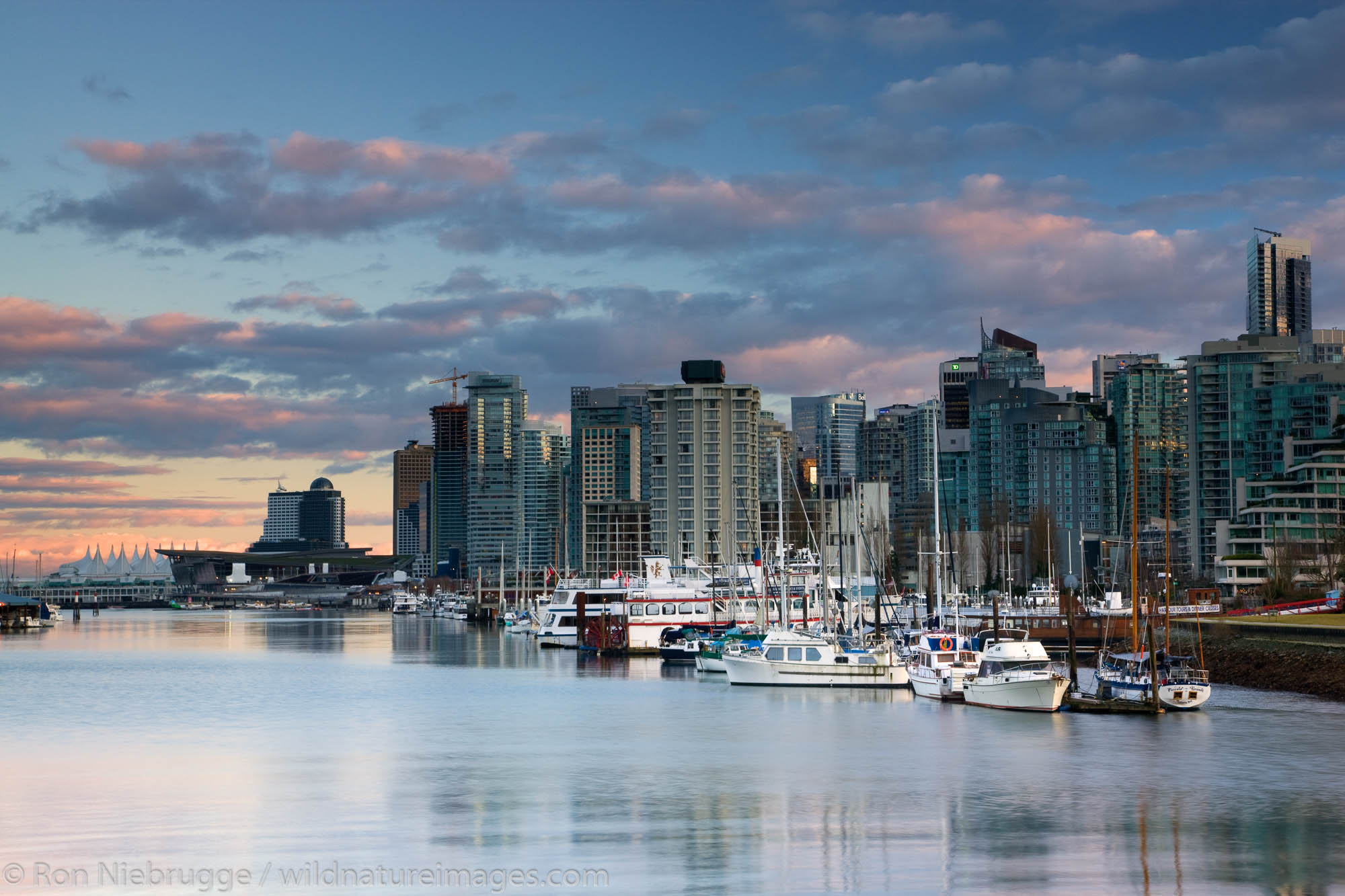 The city skyline of Vancouver, host of the 2010 Winter Olympics, British Columbia, Canada.