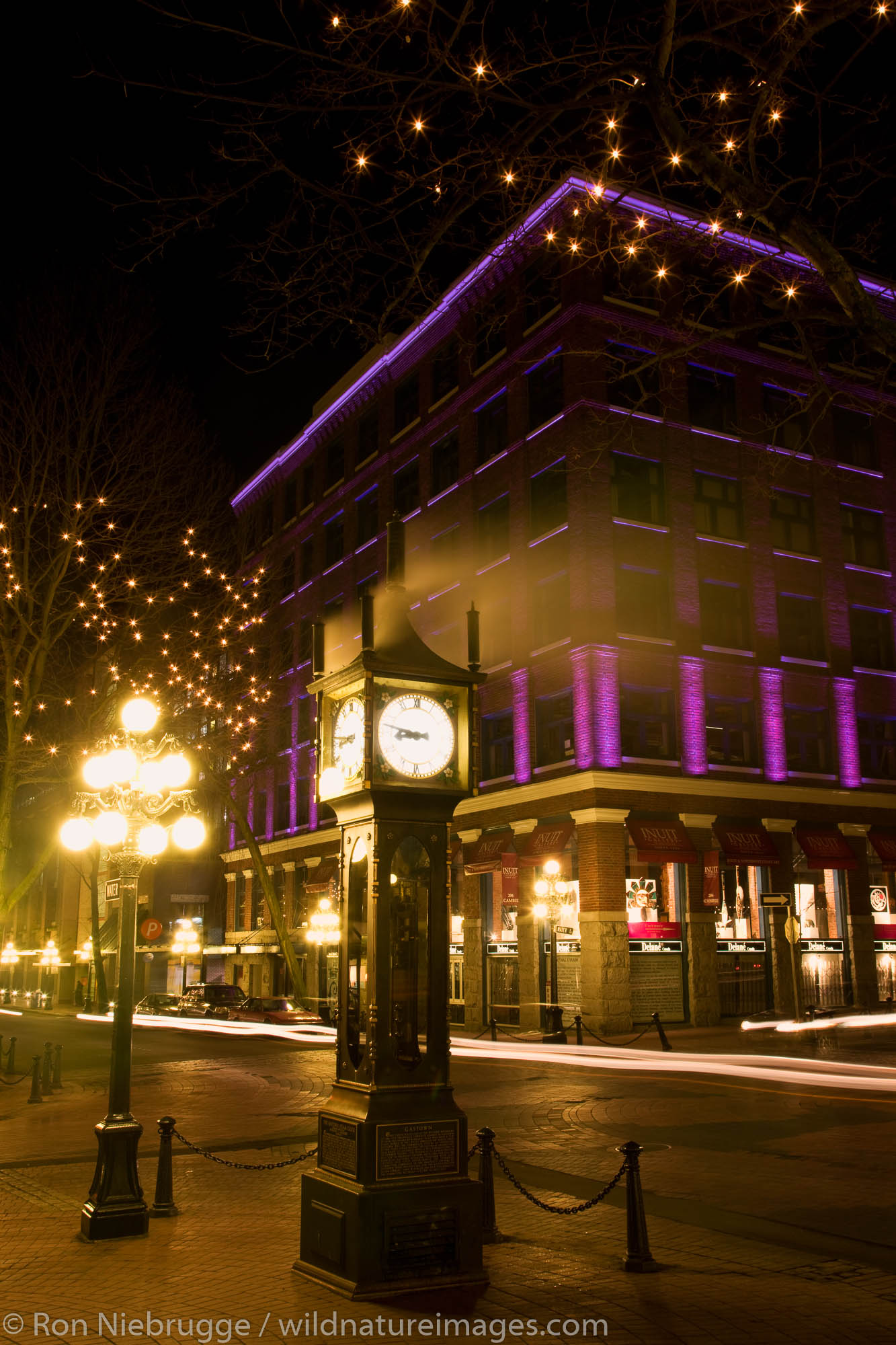 The historic steam powered clock in the Gastown area, Vancouver, British Columbia, Canada.