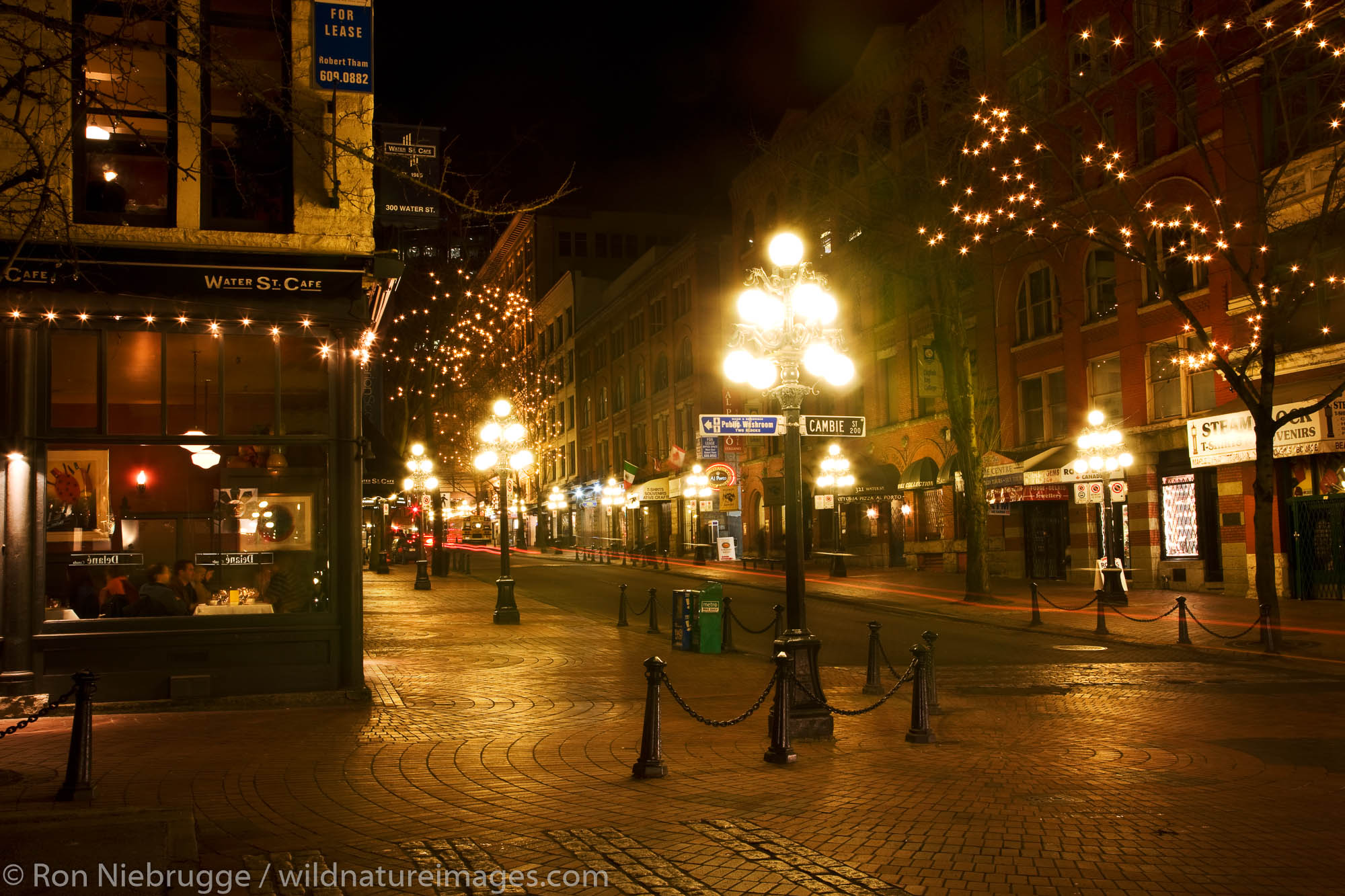 The Gastown area, Vancouver, British Columbia, Canada.