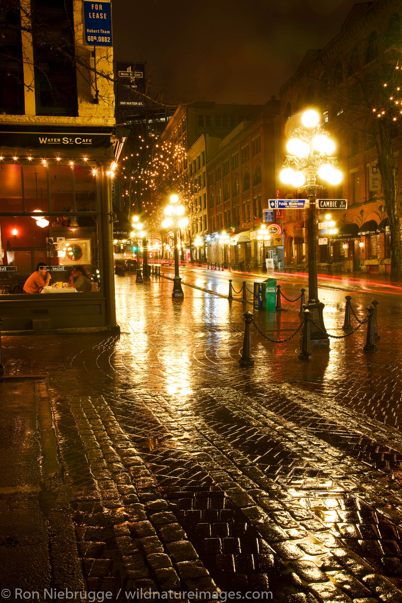 Gastown area in the host city of the 2010 Winter Olympics, Vancouver, British Columbia, Canada.