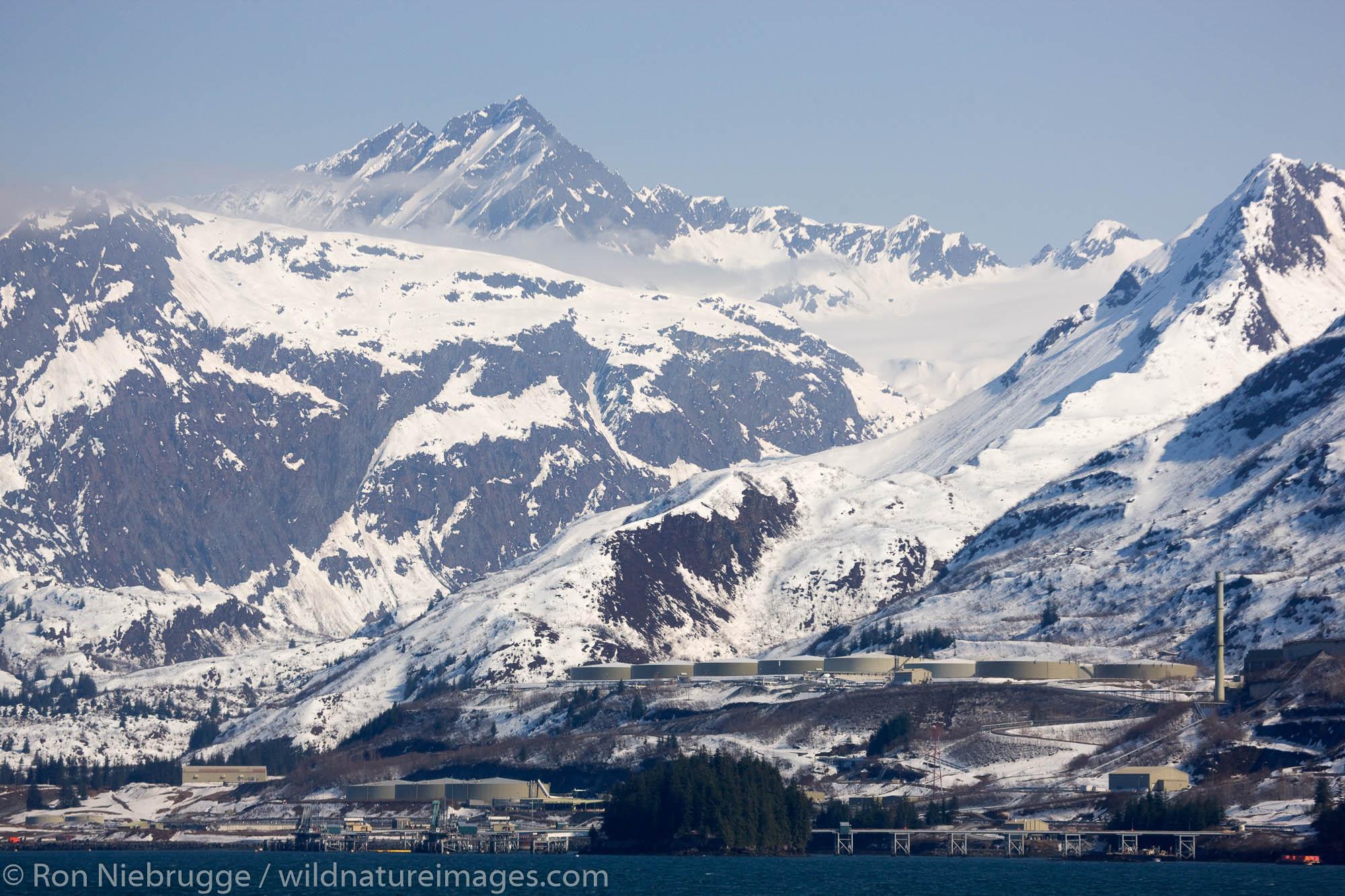 Trans Alaska Pipeline Terminal, Prince William Sound, Valdez, Alaska