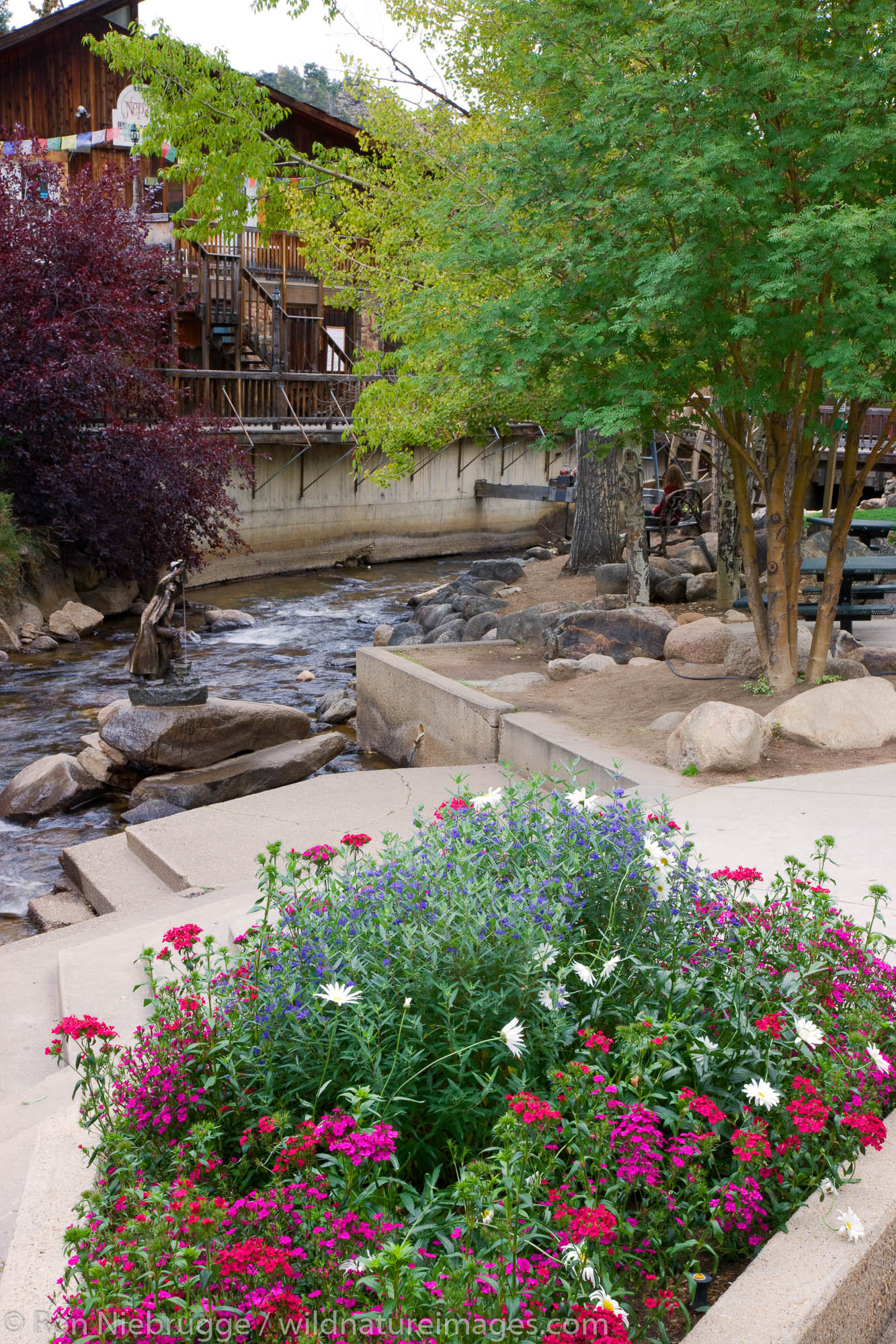 Tregent Park, Estes Park, gateway to Rocky Mountain National Park, Colorado.