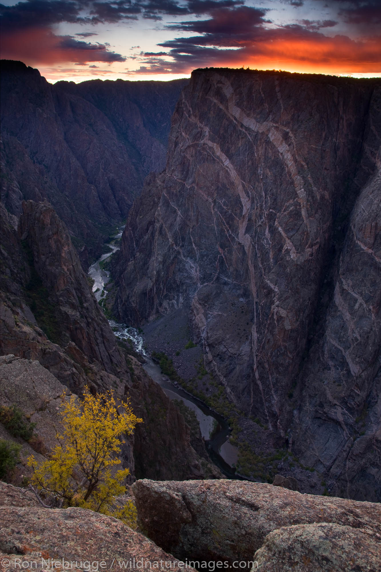 Painted Wall, Black Canyon of the Gunnison National Park, Colorado.