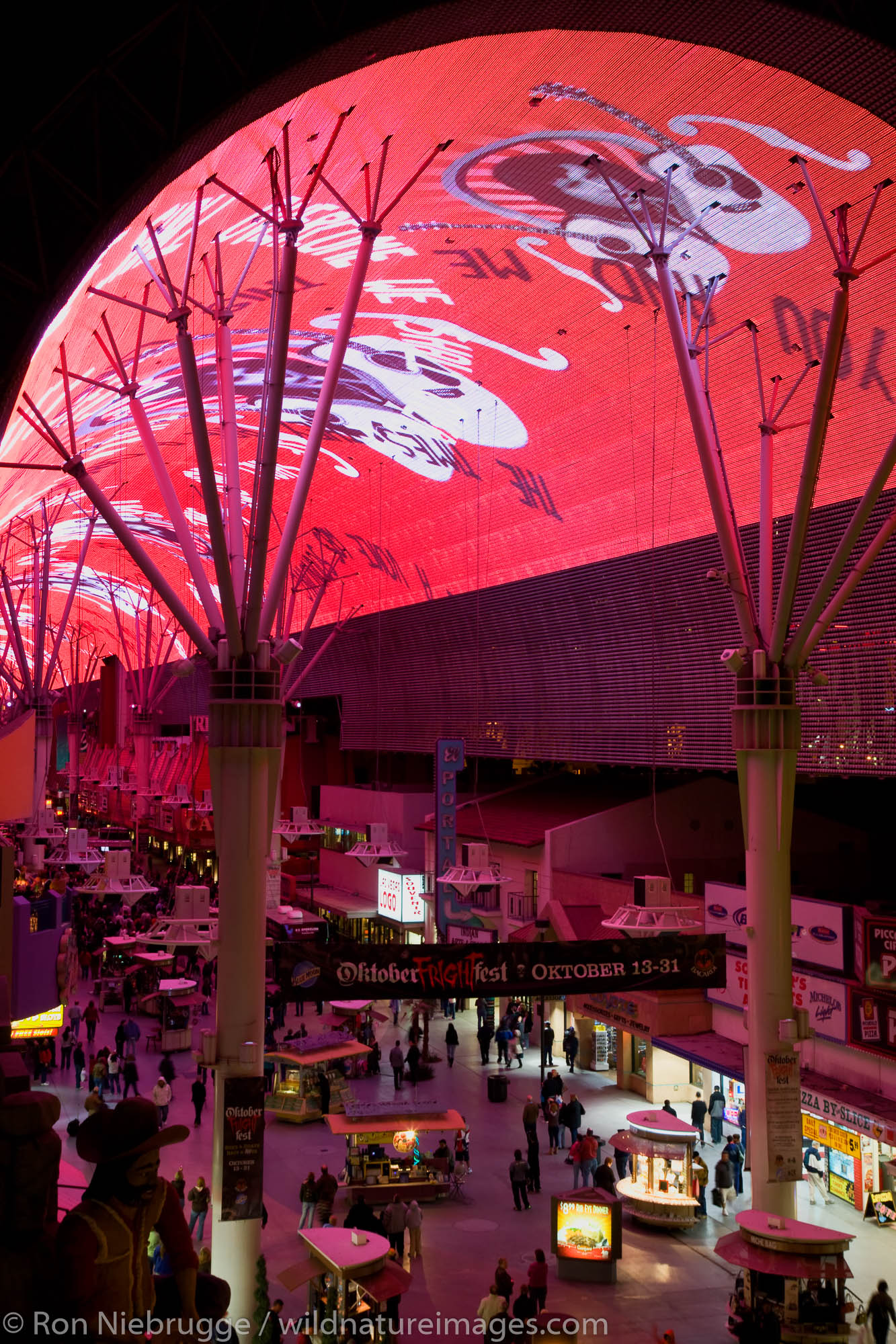Laser light show, Downtown Las Vegas, Nevada.