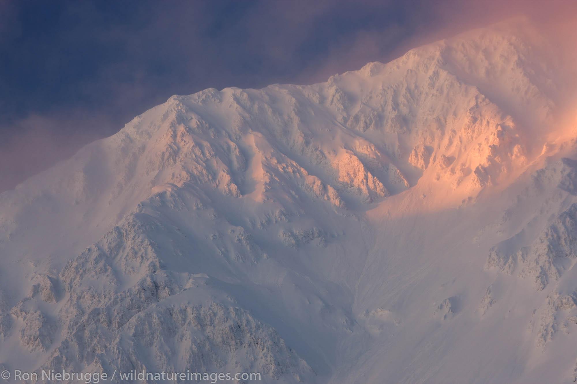 Resurrection Peak in winter, Chugach National Forest, Seward, Alaska.