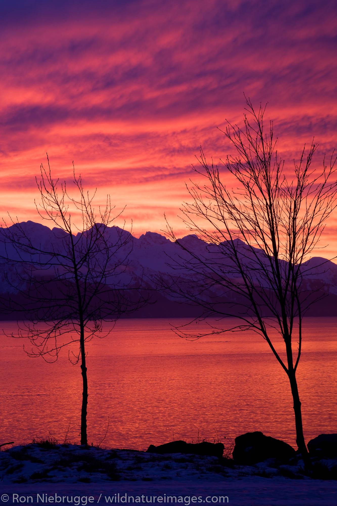 Sunrise over Resurrection Bay, Seward, Alaska.